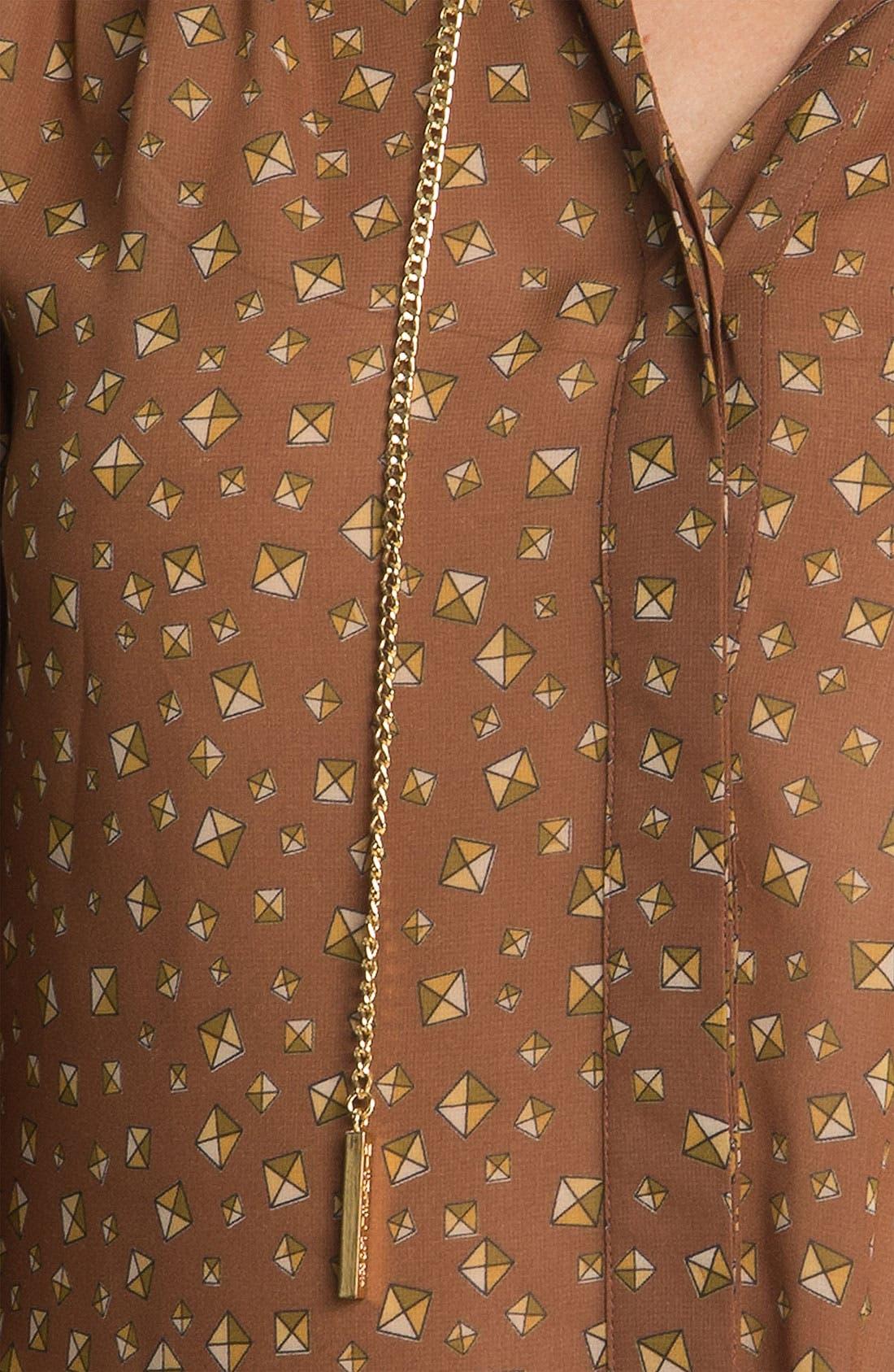 Alternate Image 3  - MICHAEL Michael Kors Chain Detail Print Blouse