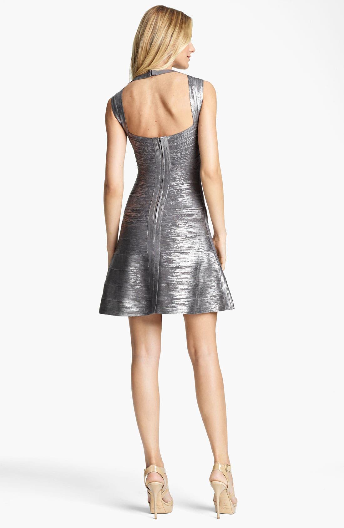 Alternate Image 2  - Herve Leger Metallic Bandage Dress