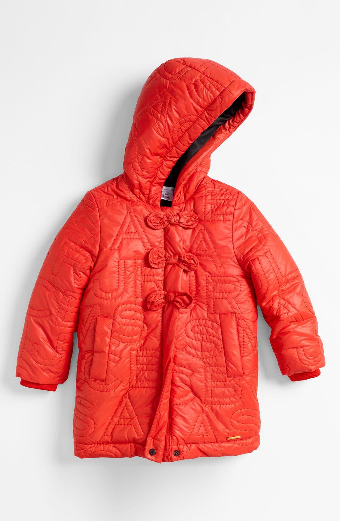 Main Image - LITTLE MARC JACOBS Embroidered Puffer Jacket (Little Girls & Big Girls)
