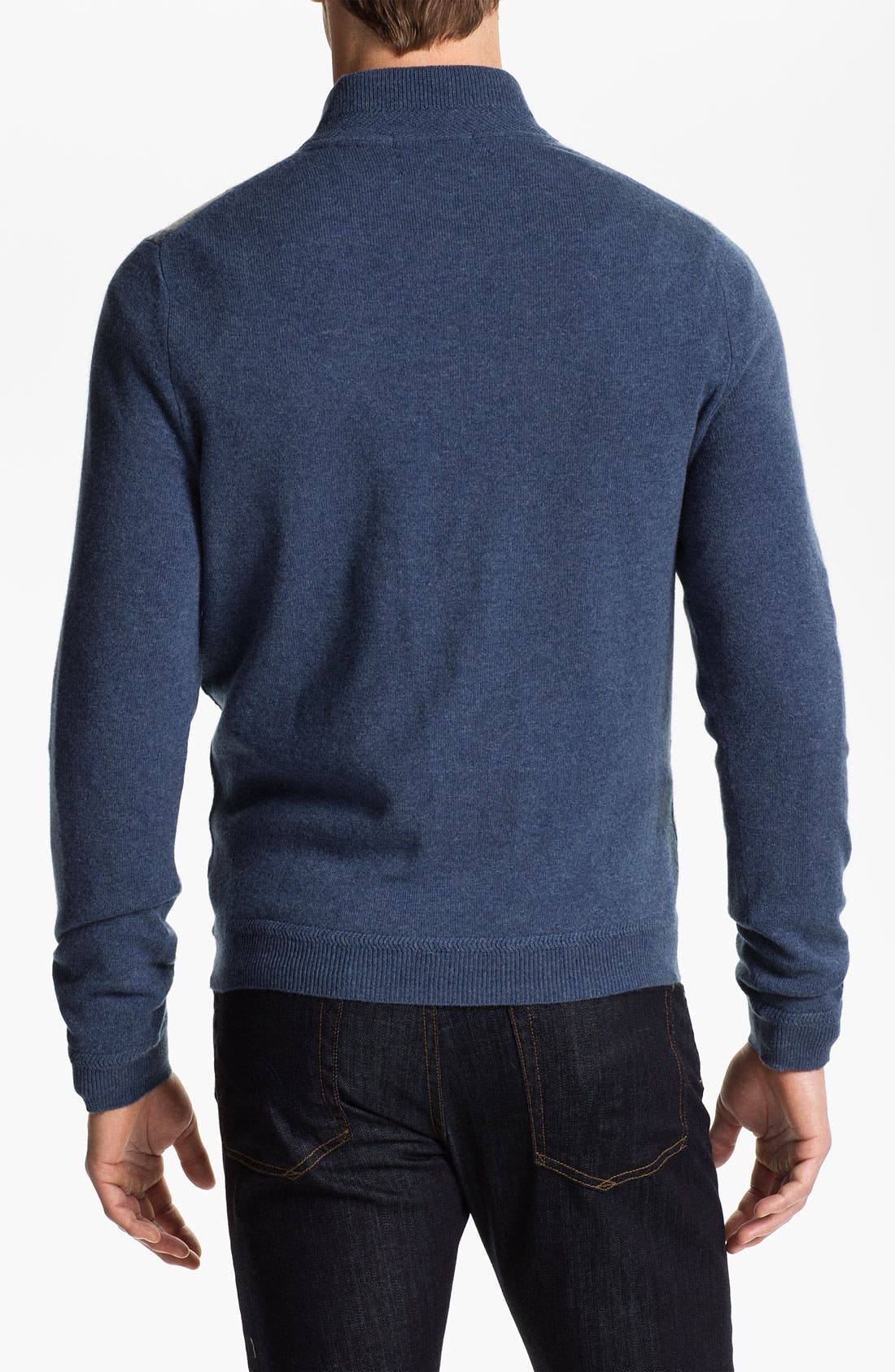 Alternate Image 2  - John W. Nordstrom® Quarter Zip Cashmere Sweater