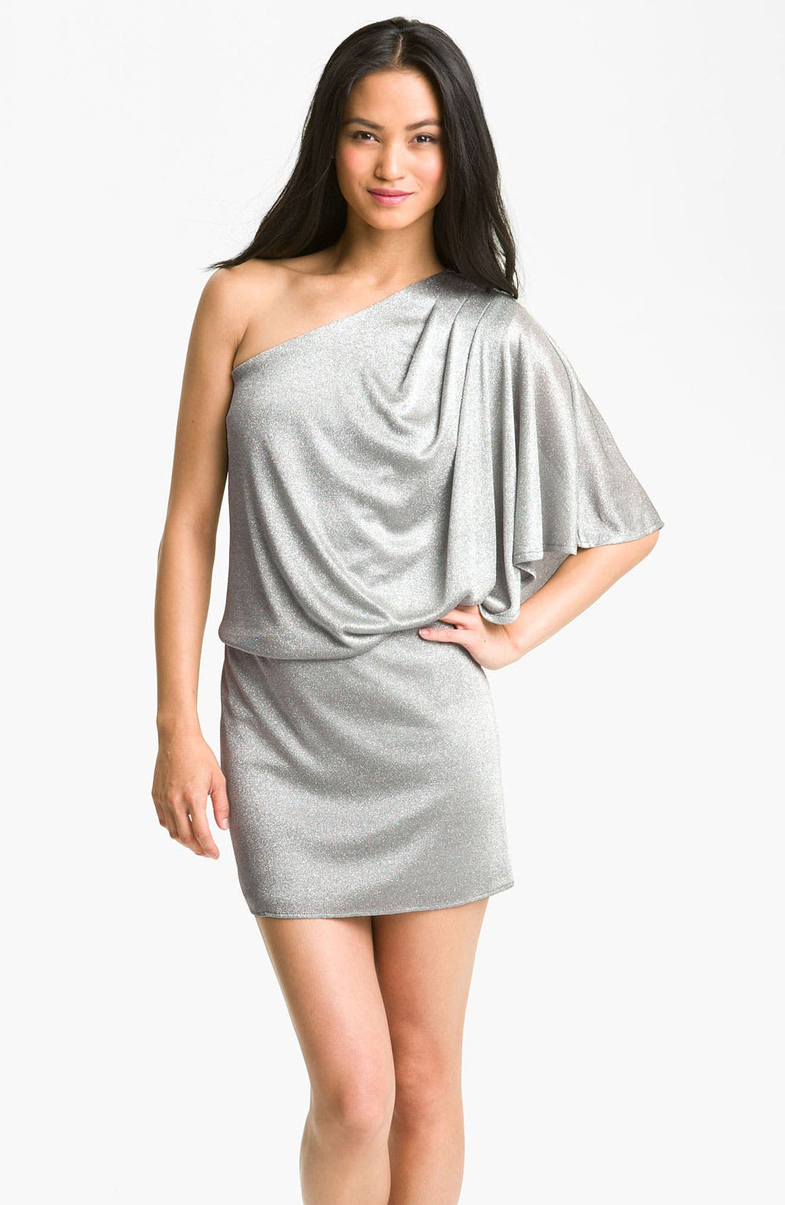 Alternate Image 1 Selected - JS Boutique Metallic Knit Dress