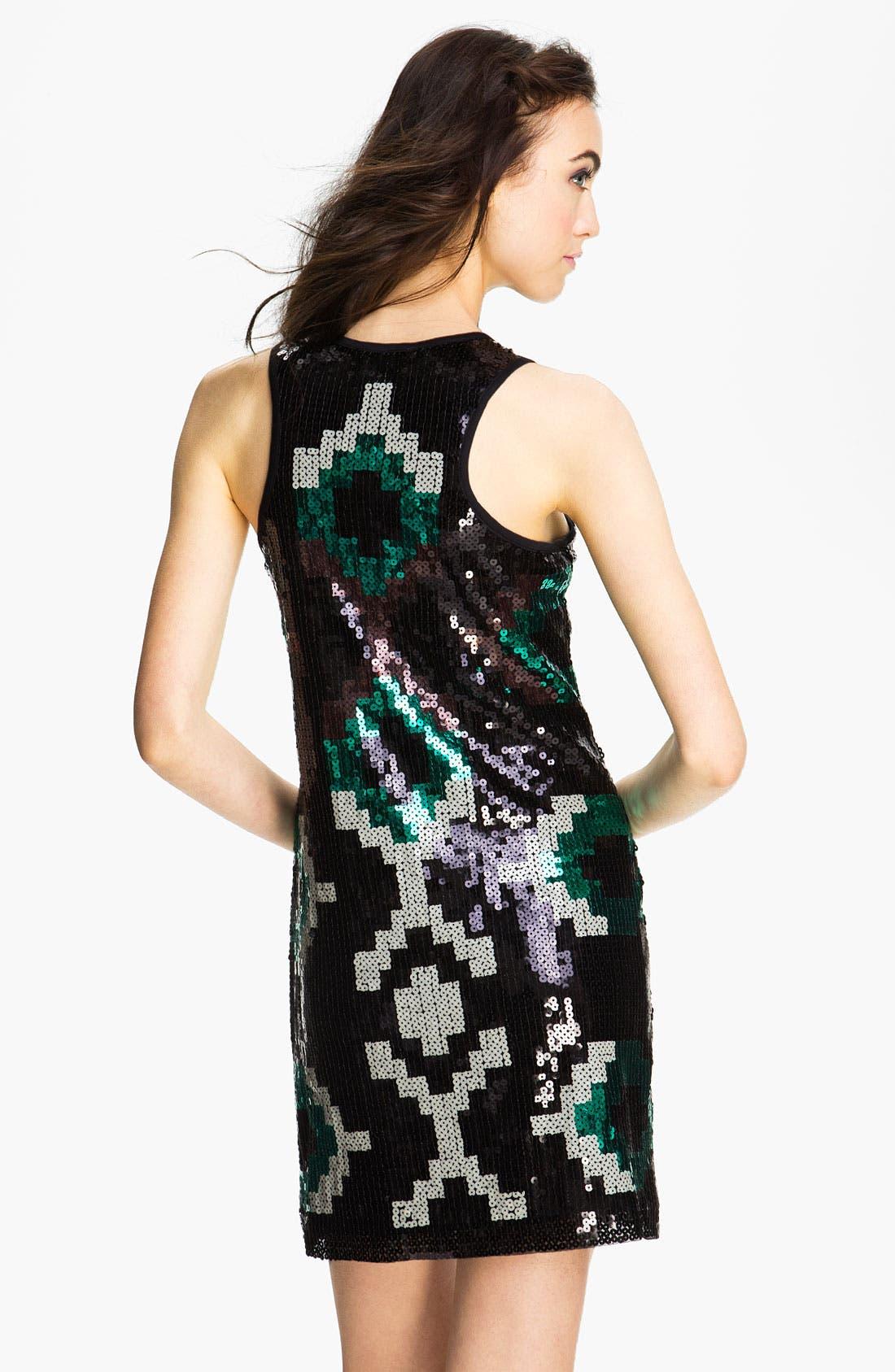 Alternate Image 2  - Donna Morgan Print Sequin Tank Dress