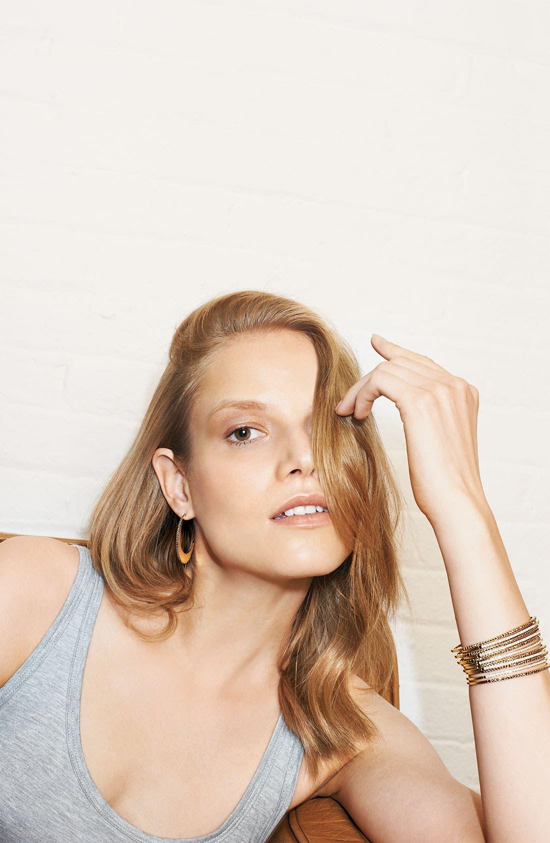 Alternate Image 3  - Judith Jack 'Gold Sea' Crescent Hoop Earrings