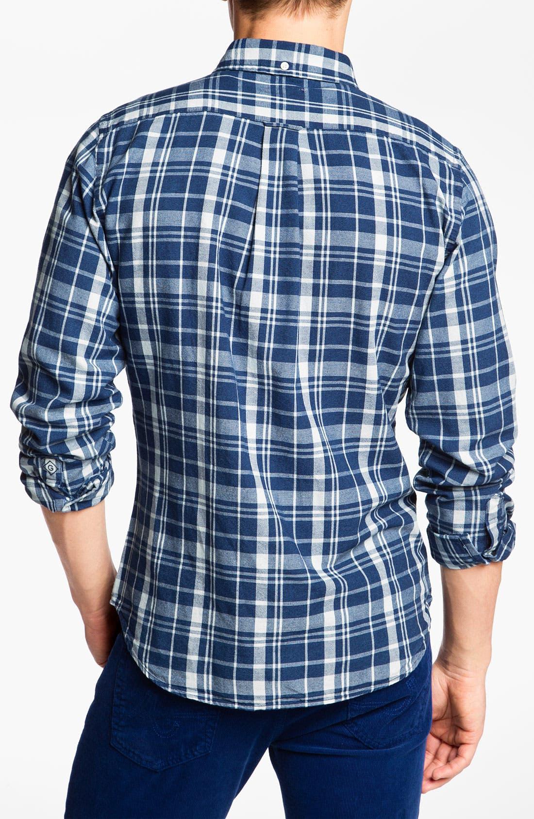 Alternate Image 2  - Gant Rugger 'The Hugger' Check Woven Shirt