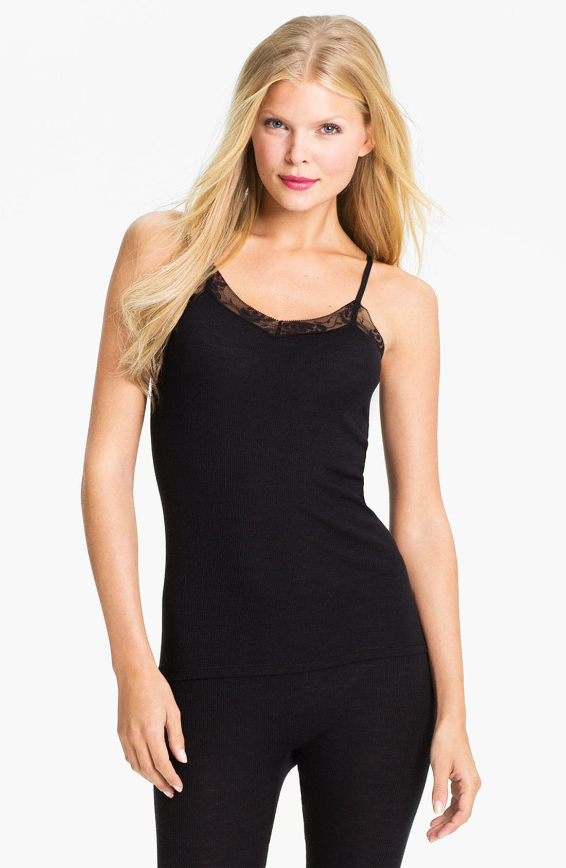 Alternate Image 1 Selected - Hanro 'Woolen Lace' Camisole