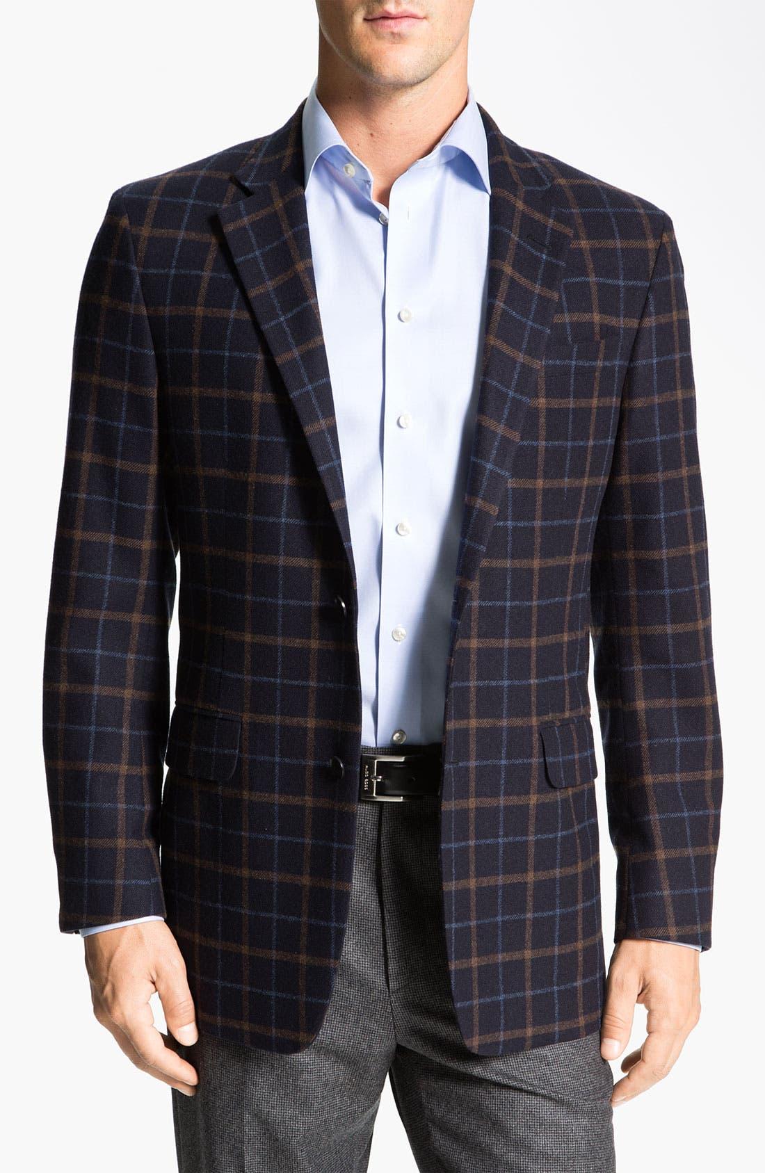 Alternate Image 1 Selected - Robert Talbott Plaid Sportcoat