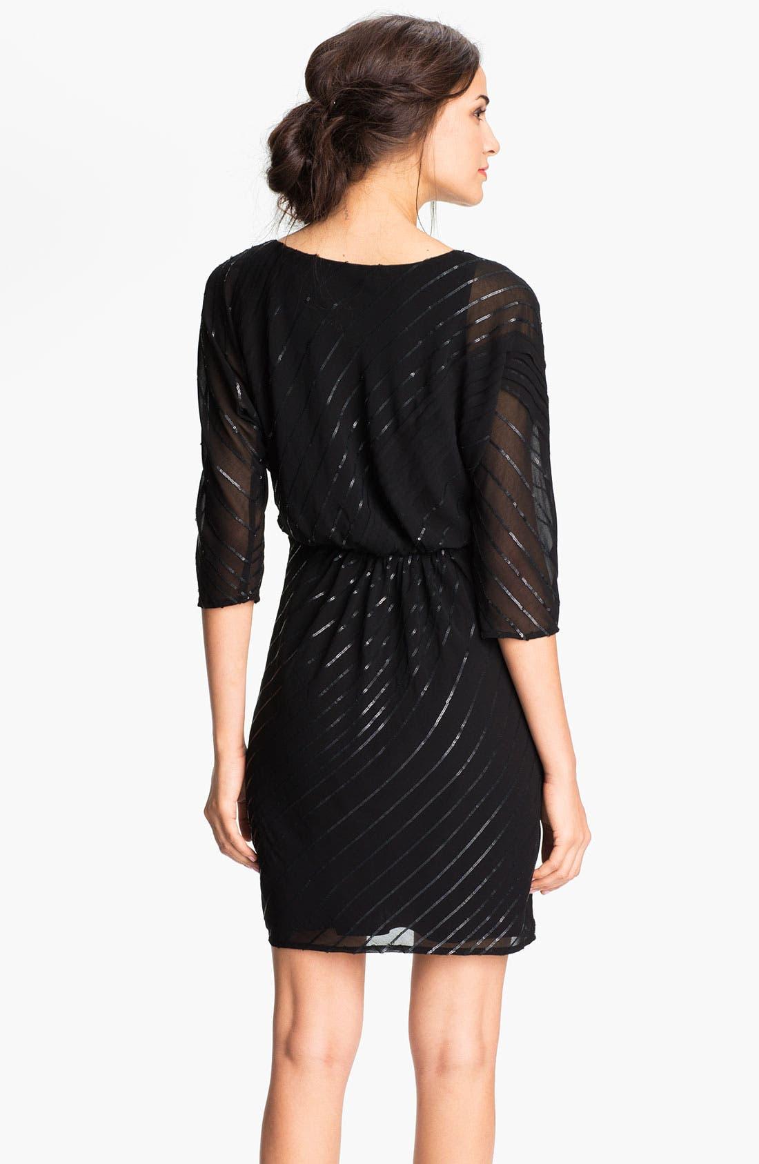 Alternate Image 2  - Vince Camuto Sequin Stripe Chiffon Dress