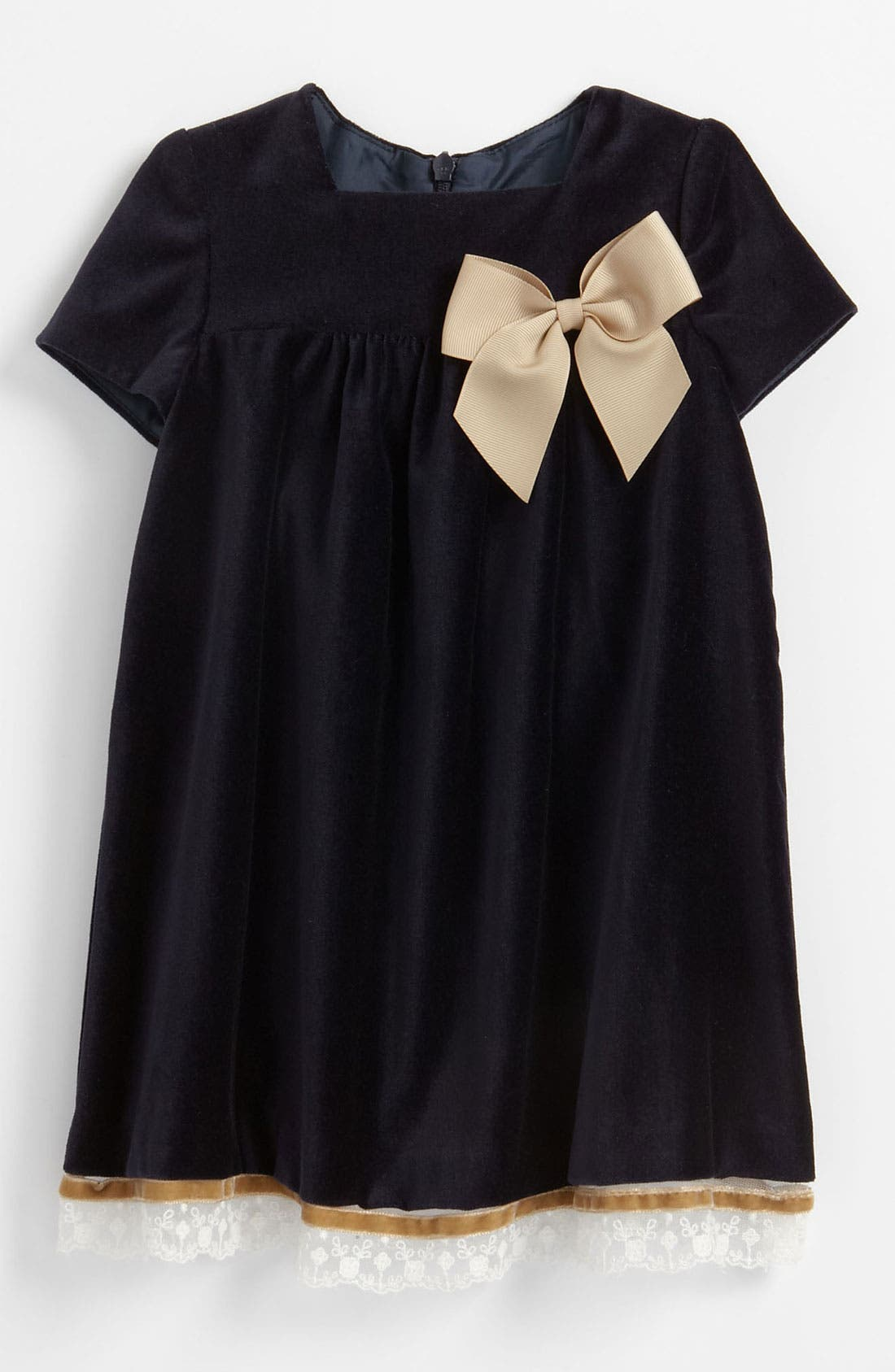 Main Image - Luli & Me Velvet Dress (Infant)