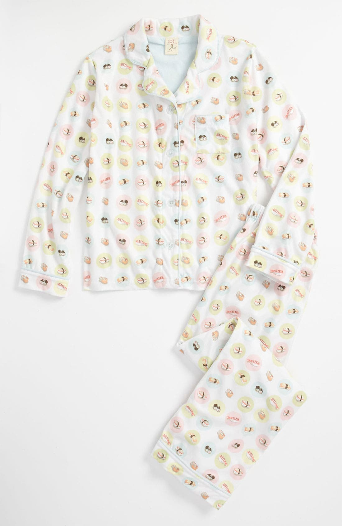 Alternate Image 1 Selected - Munki Munki Flannel Pajamas (Little Girls & Big Girls)