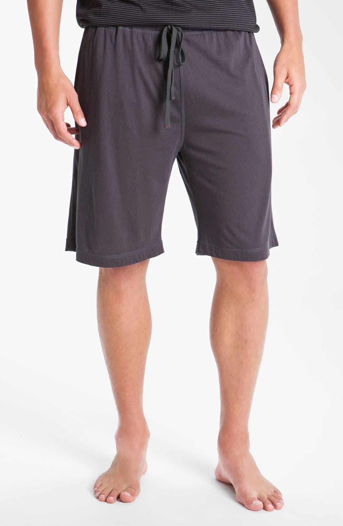 Alternate Image 1 Selected - Daniel Buchler Lightweight Pima Cotton Blend Lounge Shorts