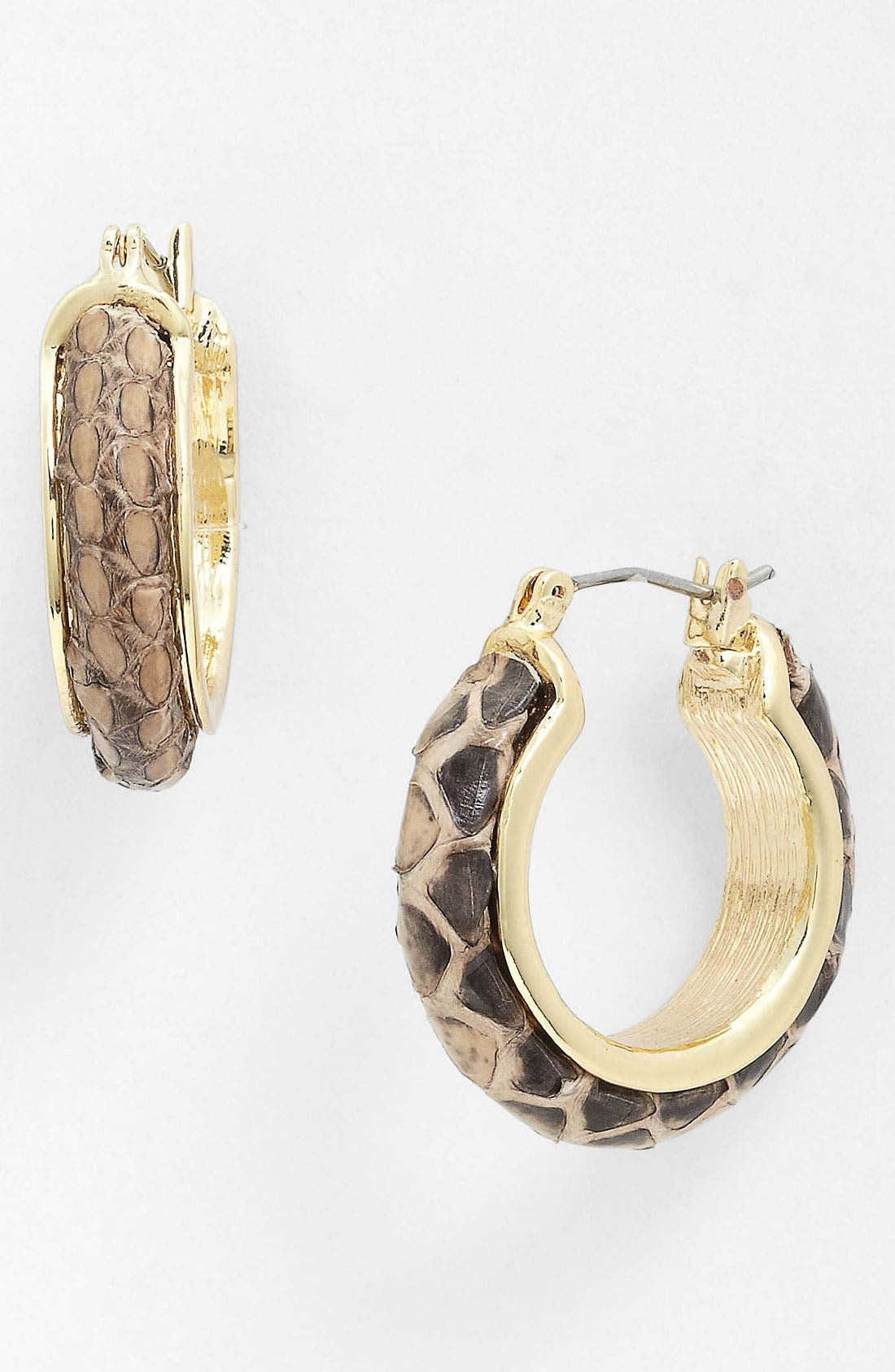 Alternate Image 1 Selected - Anne Klein Small Hoop Earrings