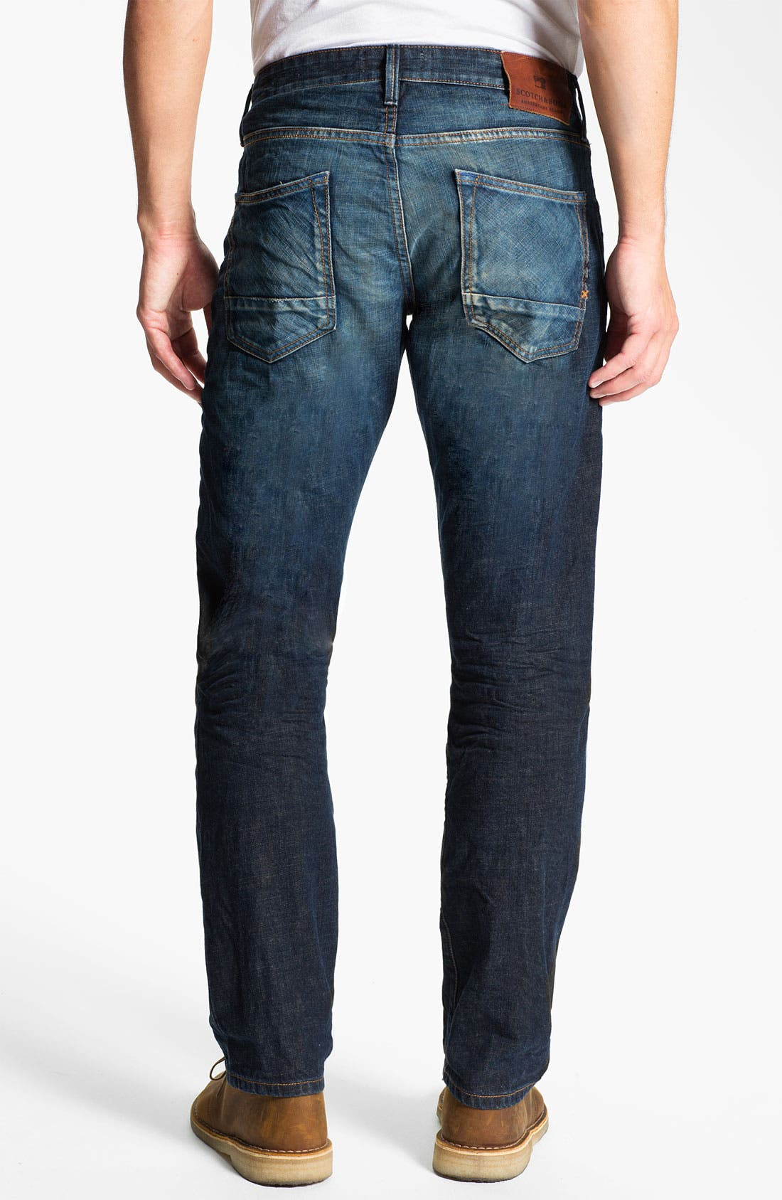 Main Image - Scotch & Soda 'Ralston' Slim Straight Leg Jeans (Blue Buzz)