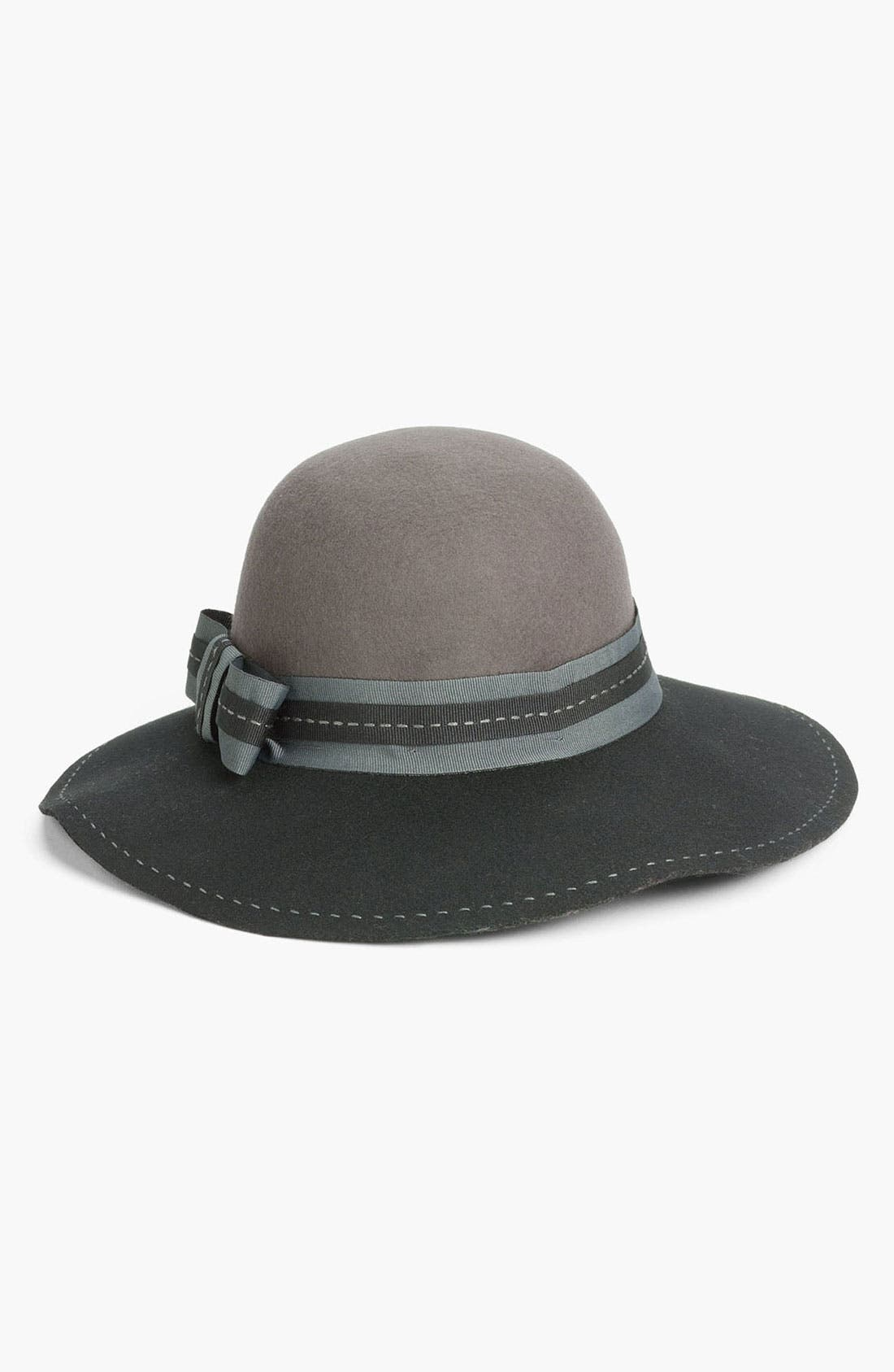 Main Image - Nordstrom Two Tone Floppy Wool Hat
