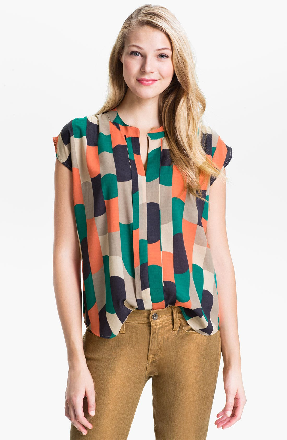 Alternate Image 1 Selected - Éclair Print Chiffon Blouse