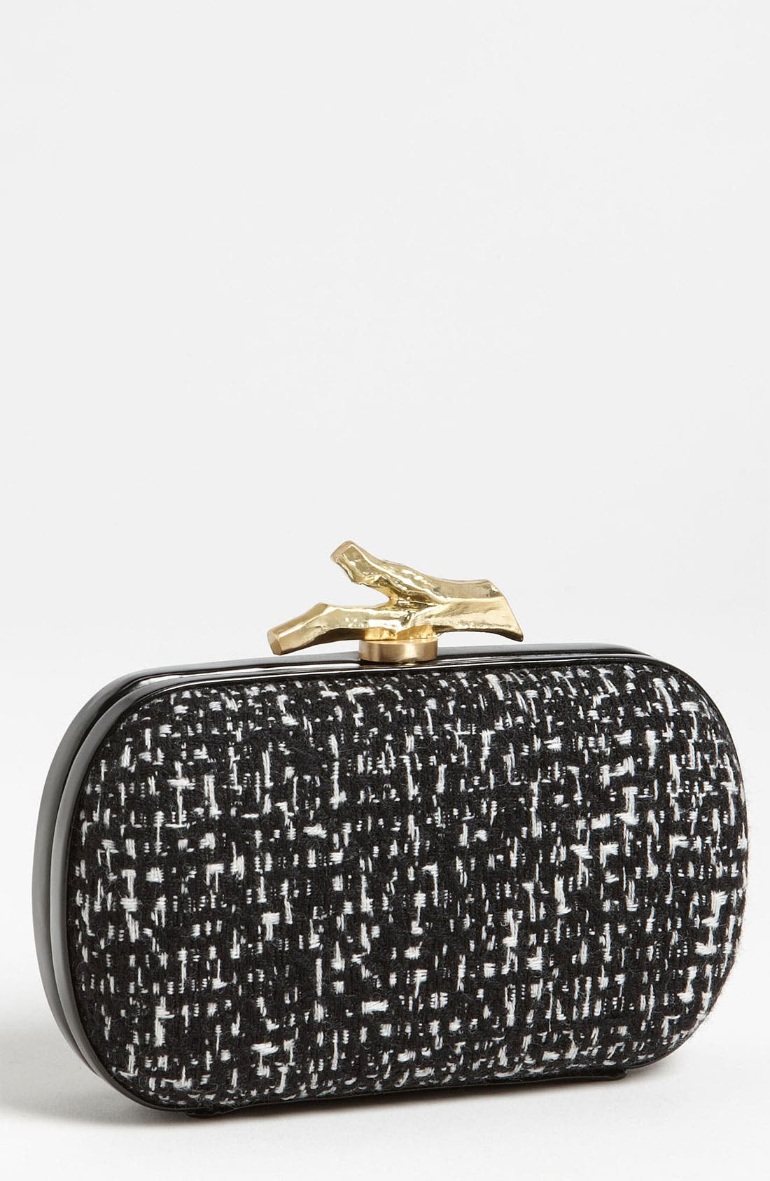Alternate Image 1 Selected - Diane von Furstenberg 'Lytton - Small' Tweed & Leather Clutch