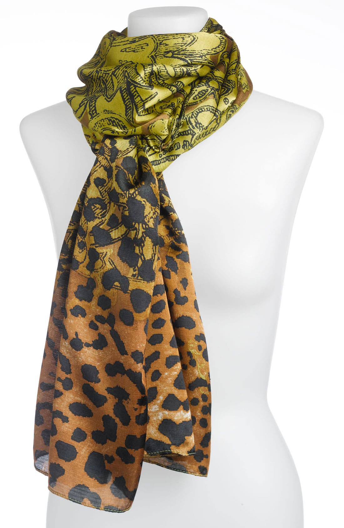 Alternate Image 1 Selected - Echo 'Floral Cheetah Spot' Scarf