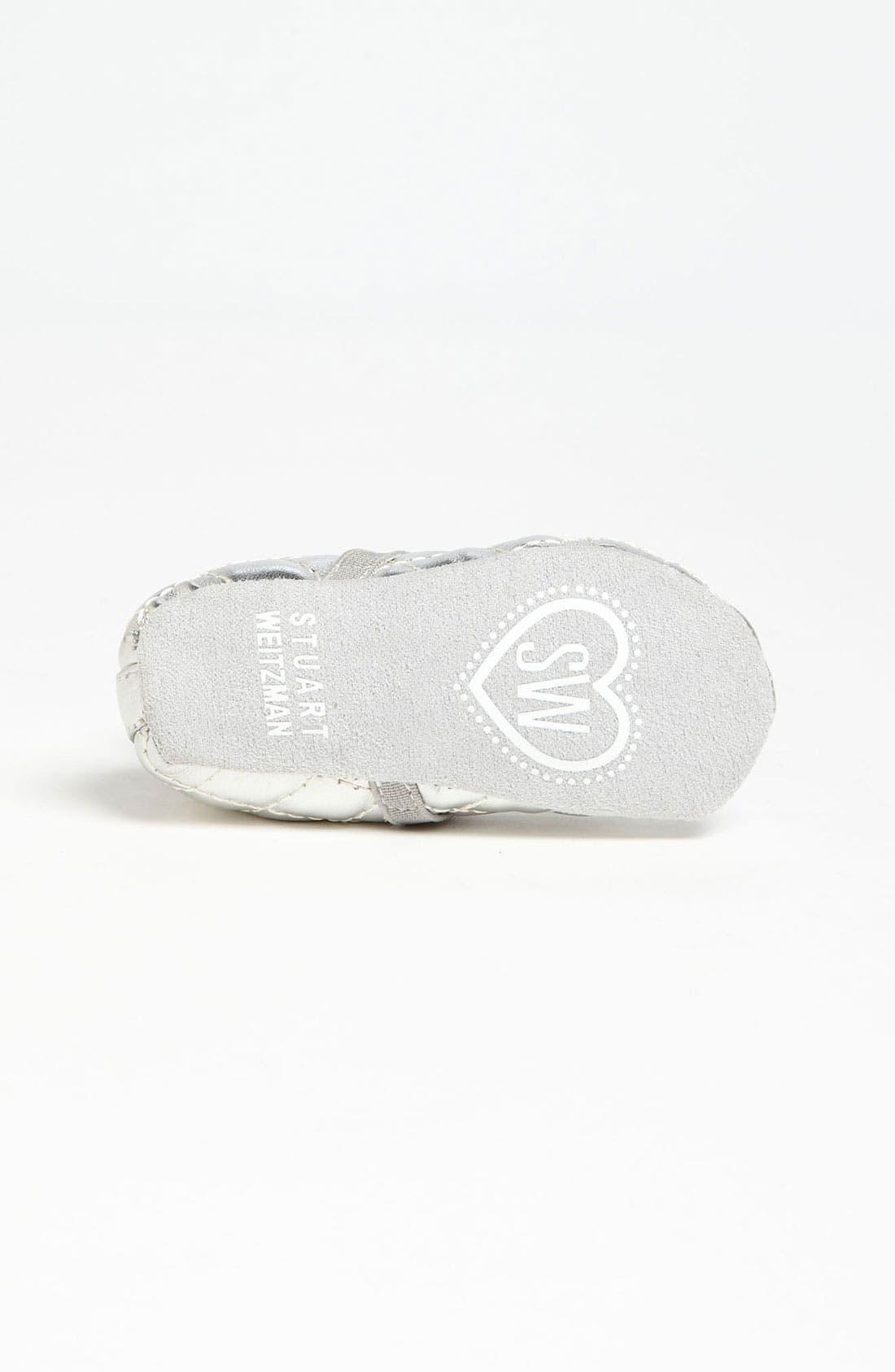 Alternate Image 4  - Stuart Weitzman 'Baby Puffy' Crib Shoe (Baby)