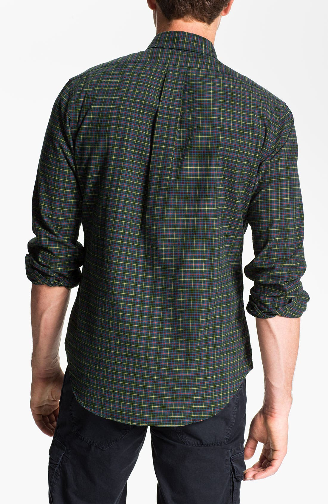 Alternate Image 2  - Polo Ralph Lauren Custom Fit Plaid Sport Shirt