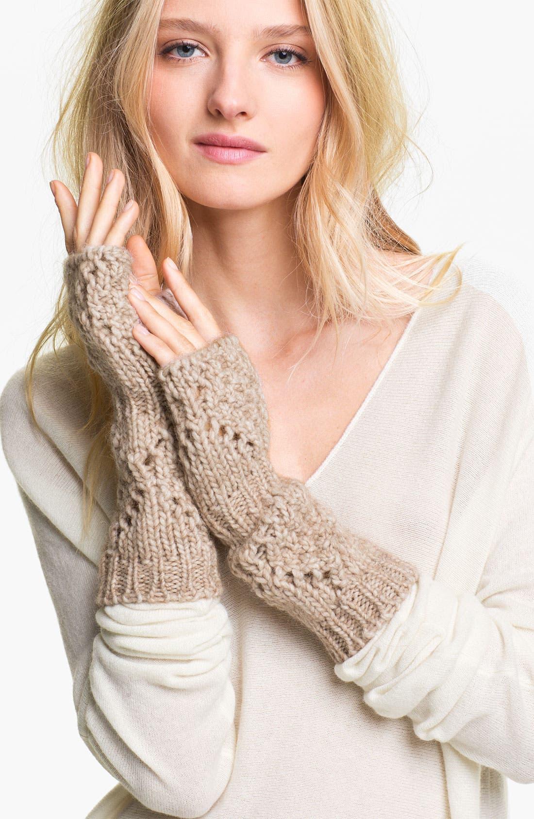 Alternate Image 1 Selected - Halogen® 'Diamond' Fingerless Gloves