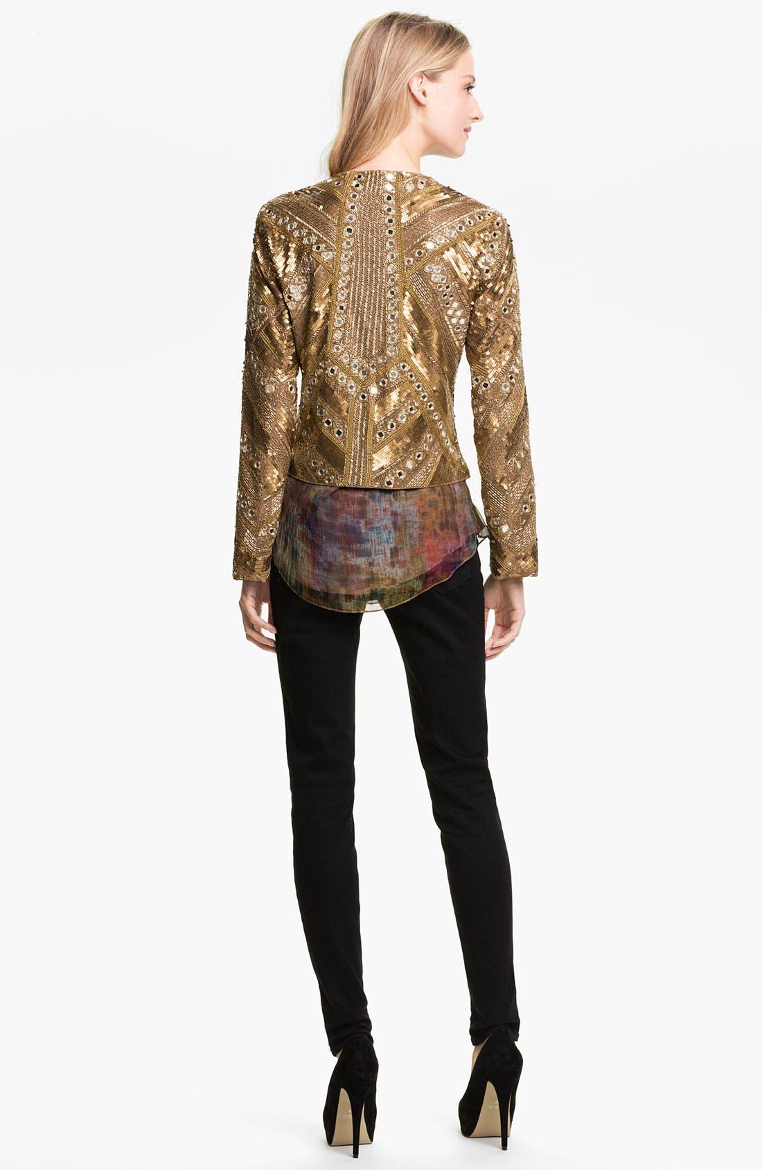 Alternate Image 5  - Haute Hippie Embellished Silk Jacket