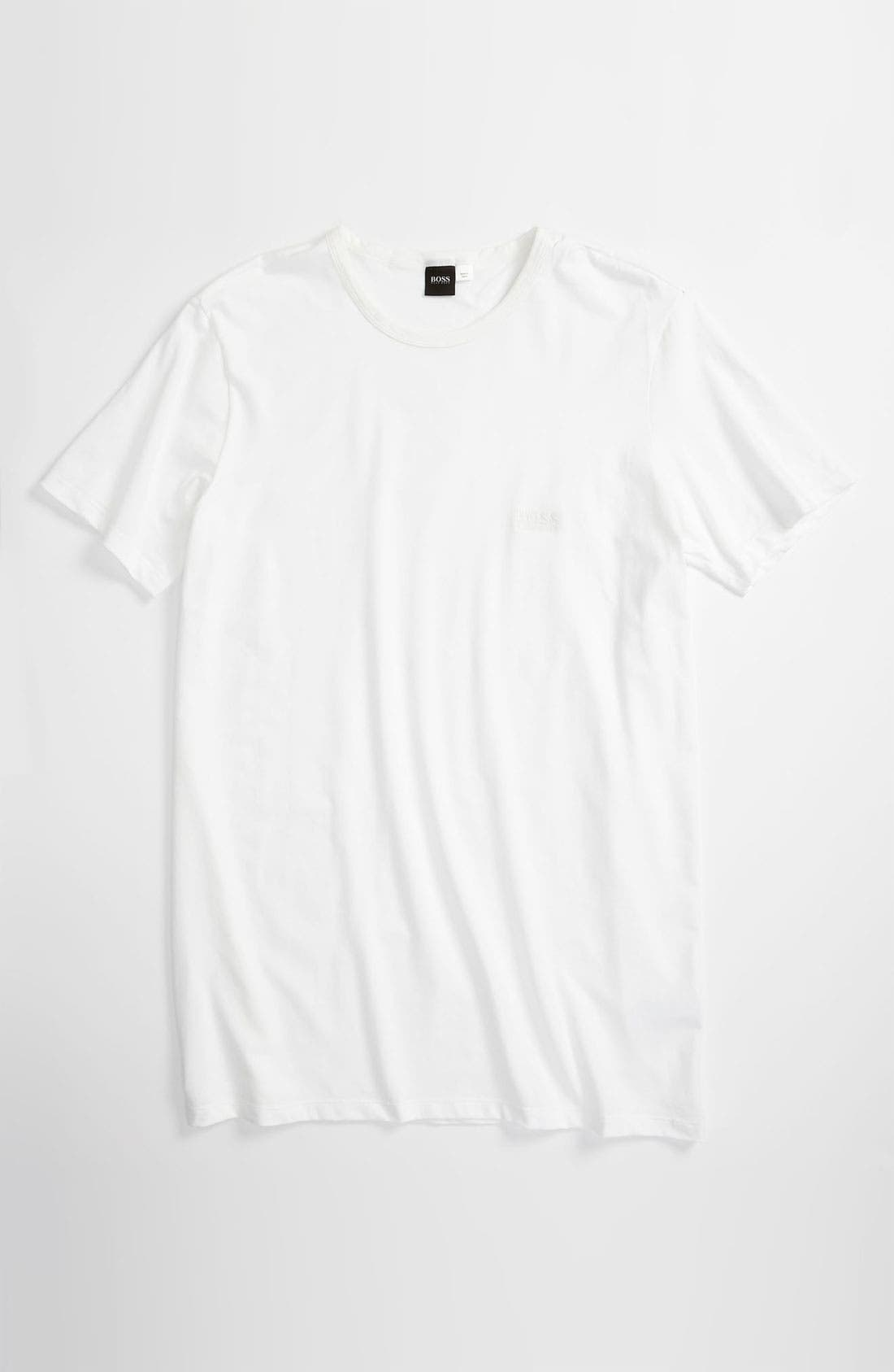 Alternate Image 1 Selected - BOSS HUGO BOSS Crewneck Stretch Cotton T-Shirt (Big) (Online Only)