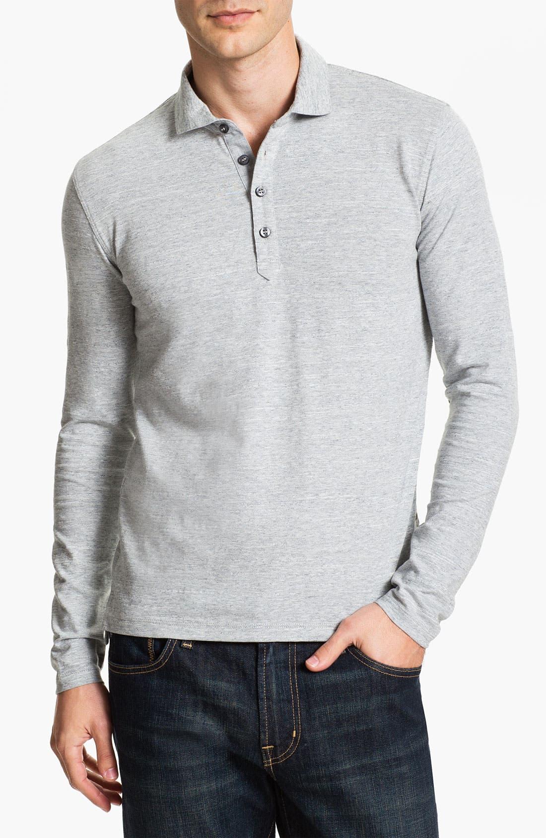 Main Image - BOSS Black 'Sedilo' Long Sleeve Polo