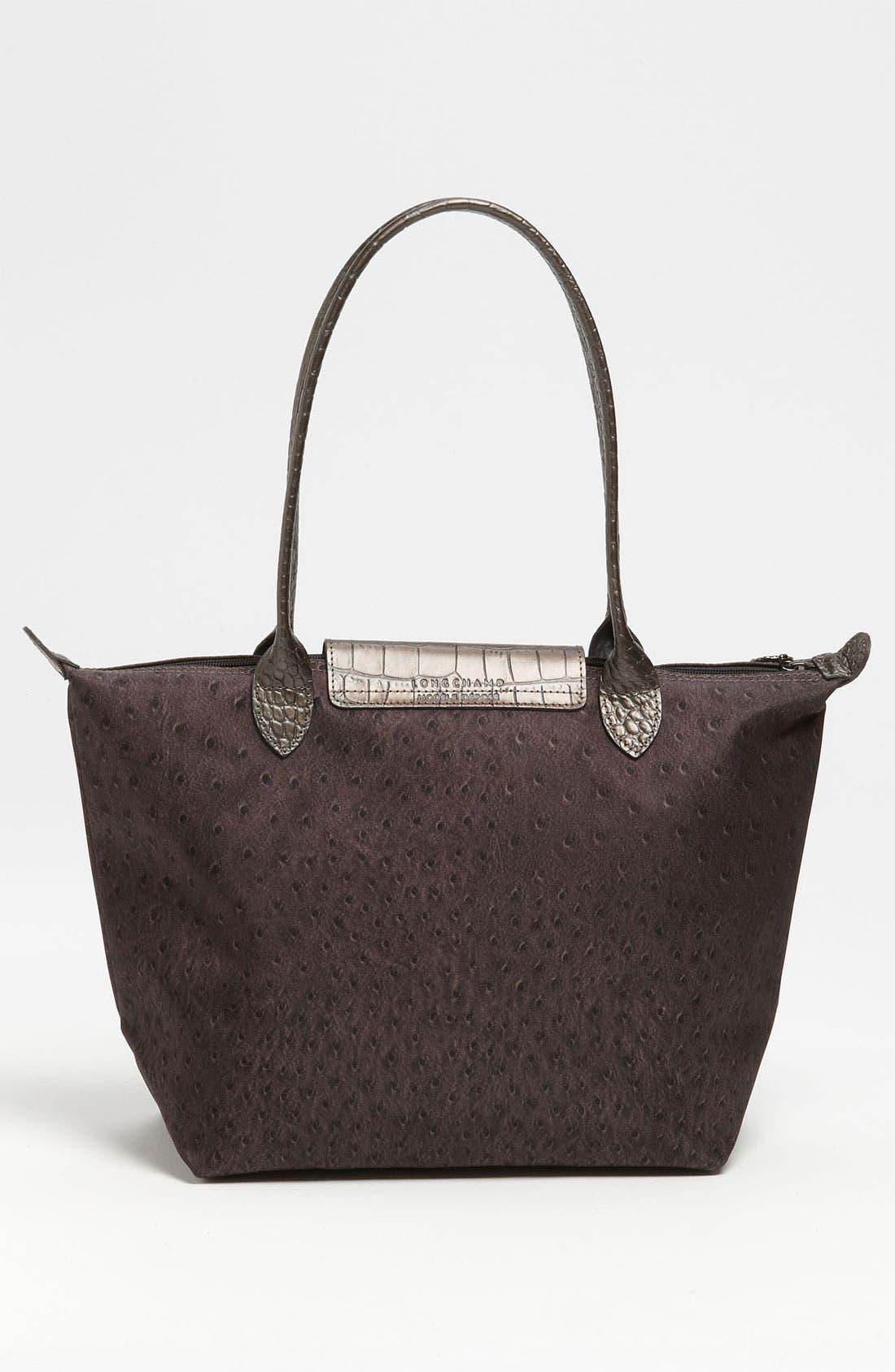 Alternate Image 4  - Longchamp 'Le Pliage Ostrich' Small Shoulder Tote