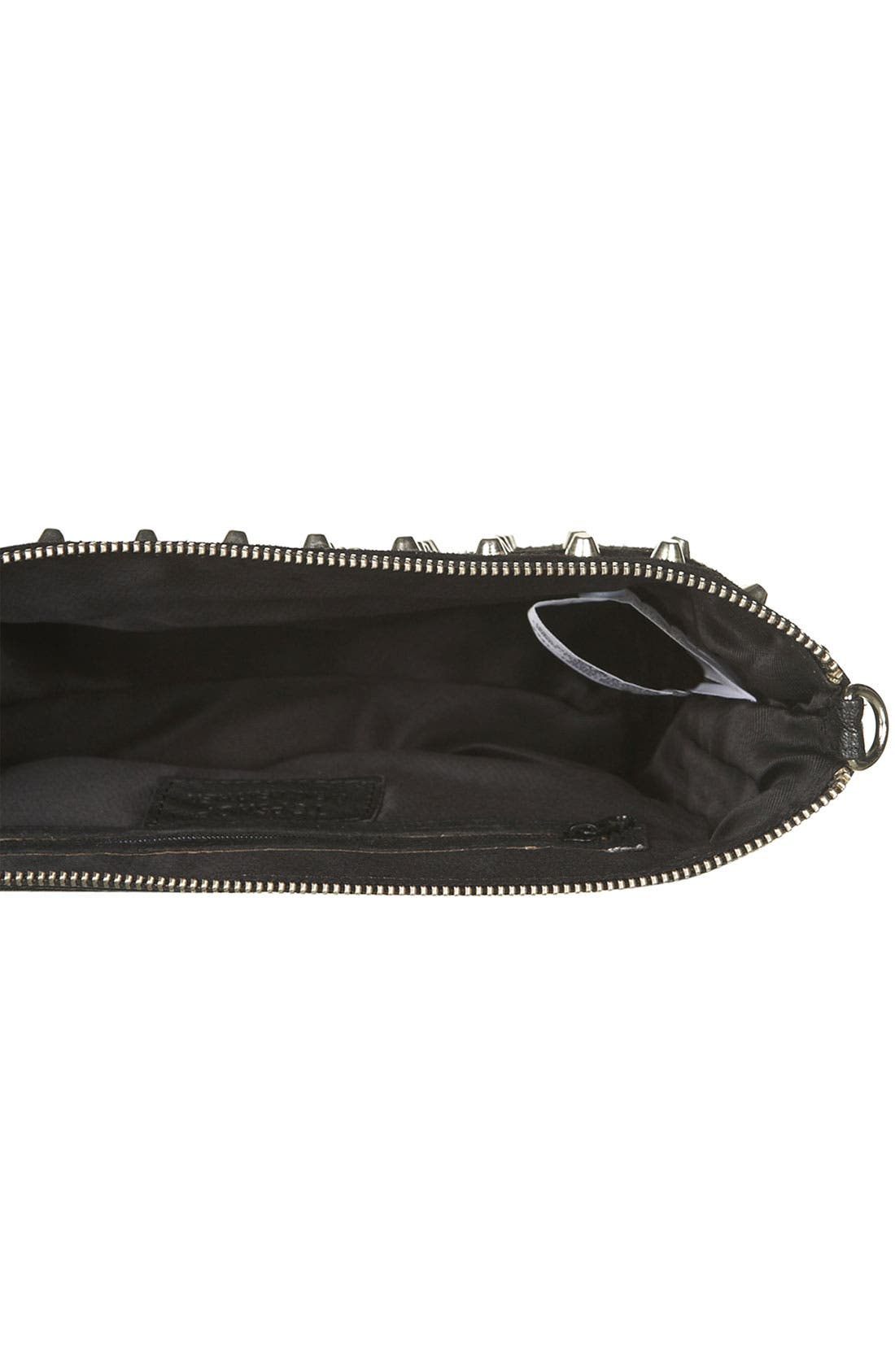 Alternate Image 3  - Topshop Studded Suede Clutch