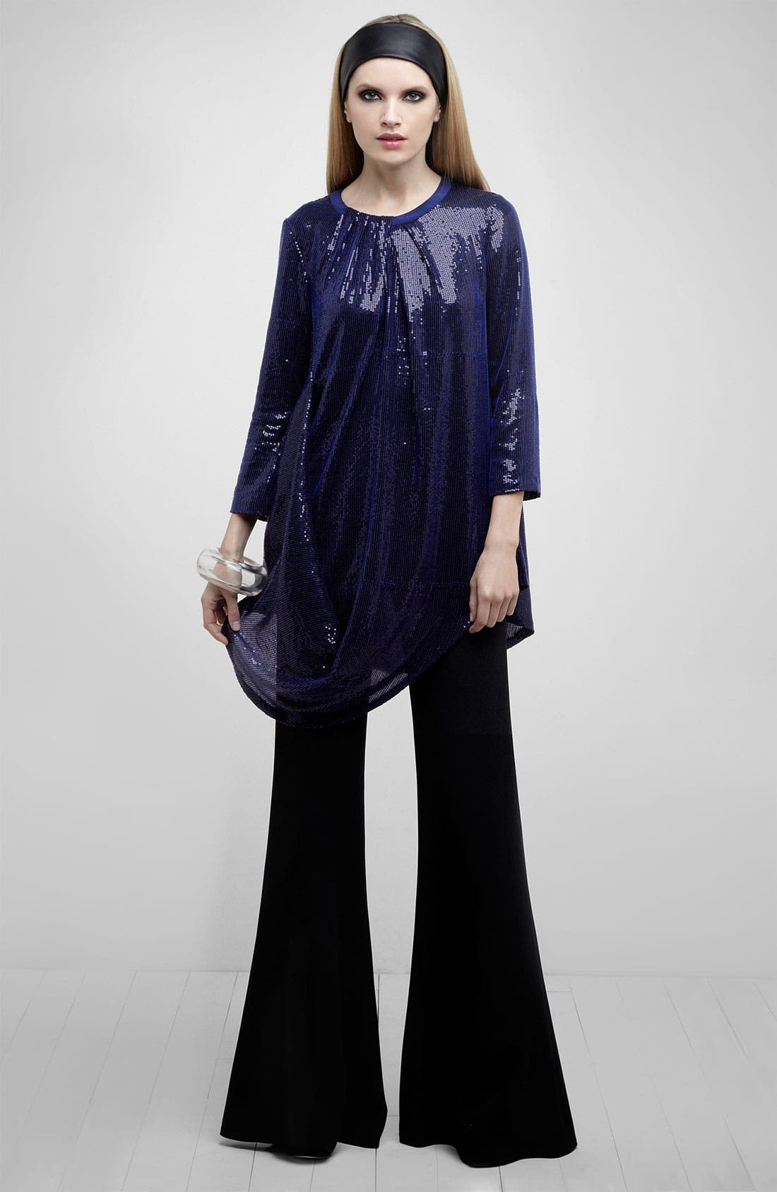 Main Image - Lafayette 148 New York Tunic & Bell Bottom Pants