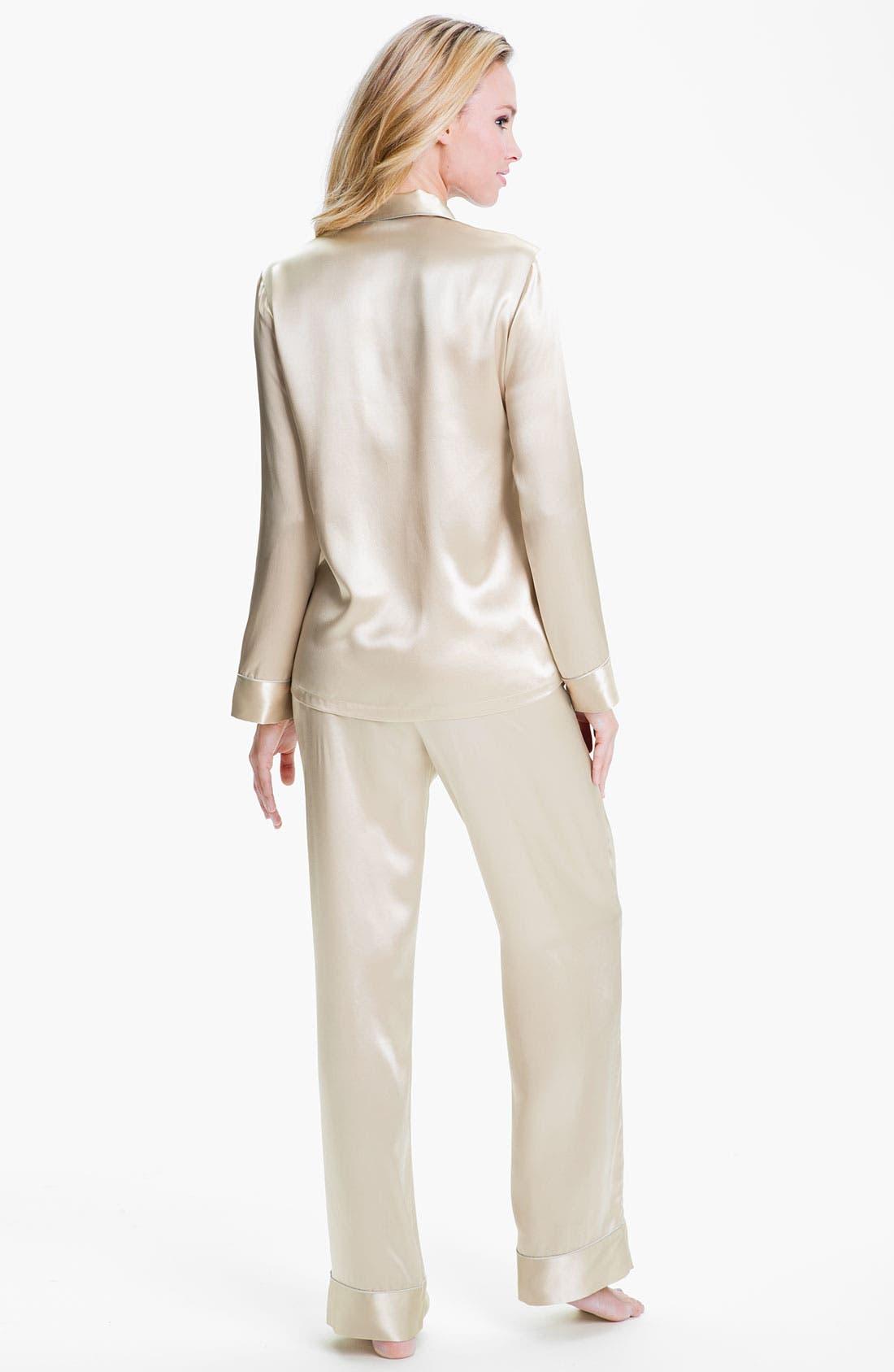Alternate Image 2  - Shimera Silk Pajamas