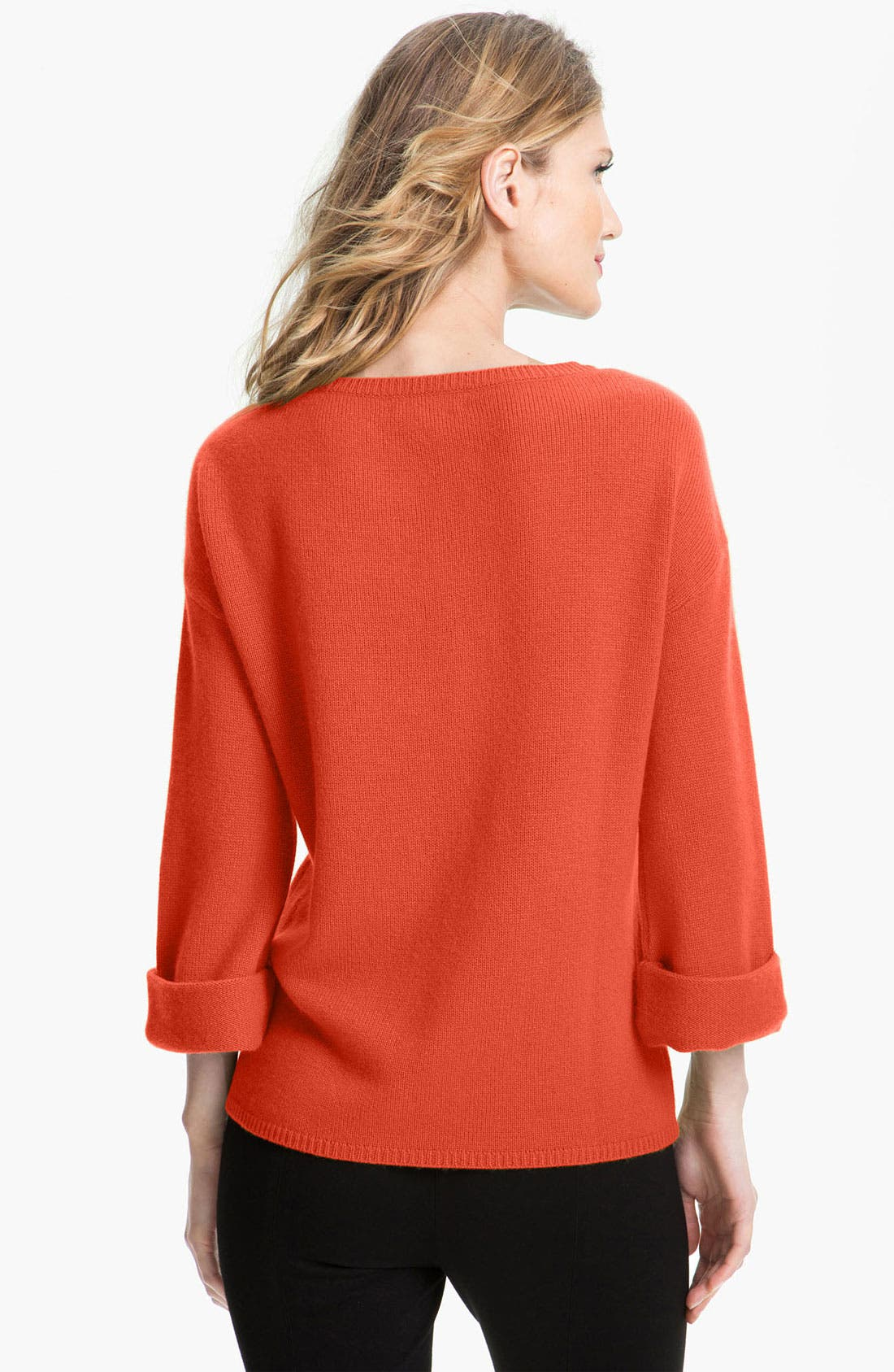 Alternate Image 2  - Nordstrom Collection Kimono Sleeve Cashmere Sweater