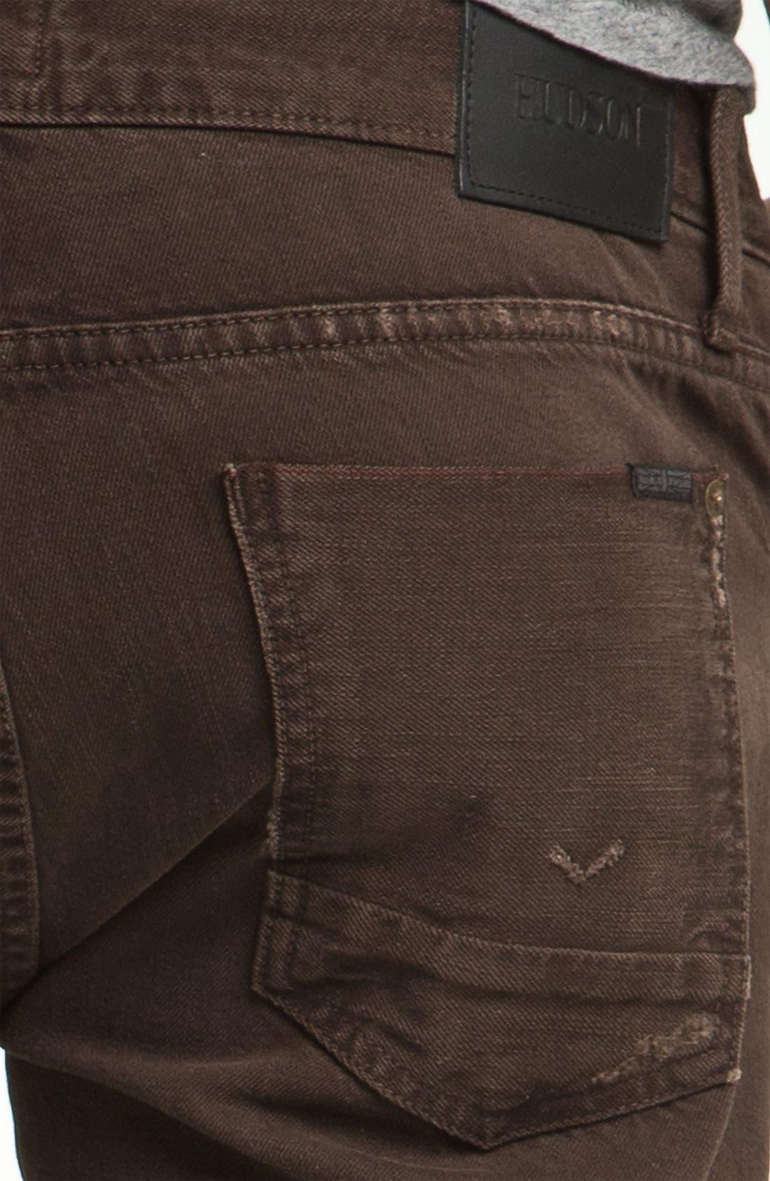 Alternate Image 4  - Hudson Jeans 'Byron' Selvedge Jeans (Russet)