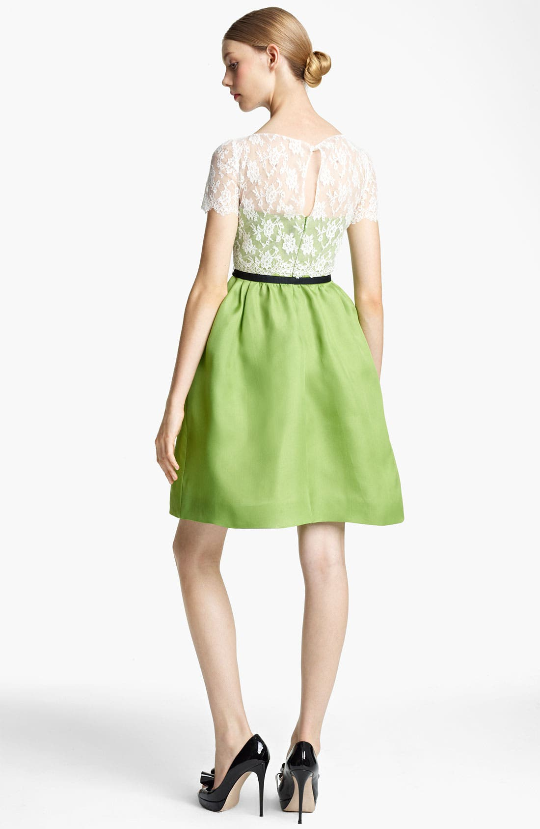 Alternate Image 2  - Valentino Lace & Organza Dress