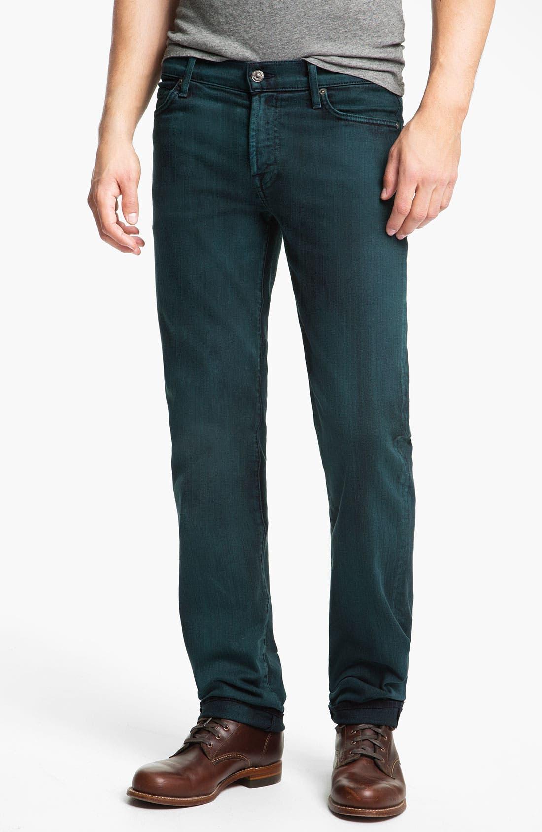 Alternate Image 2  - 7 For All Mankind® 'Slimmy' Slim Straight Leg Jeans (Dark Ivy)