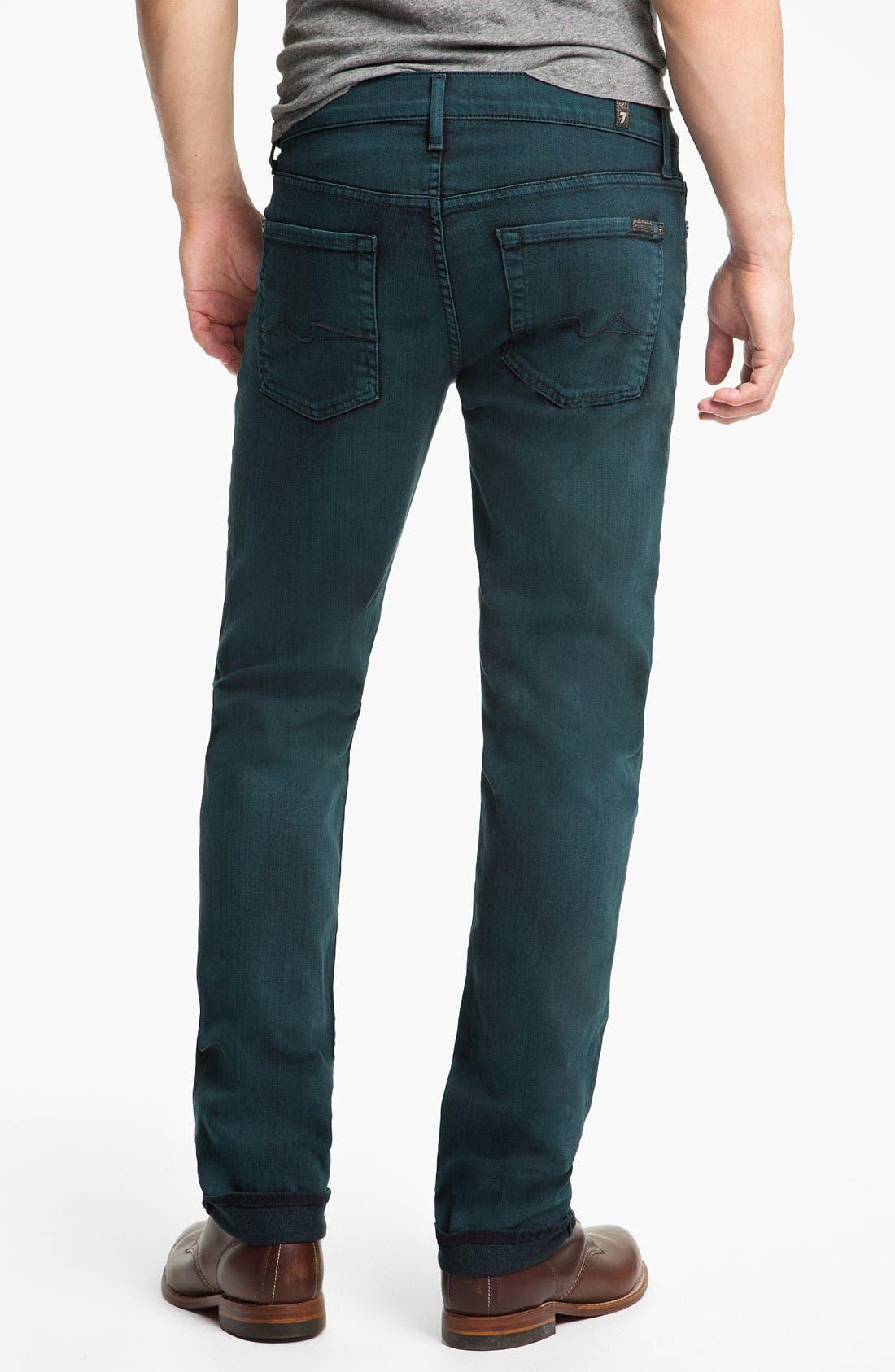 Main Image - 7 For All Mankind® 'Slimmy' Slim Straight Leg Jeans (Dark Ivy)