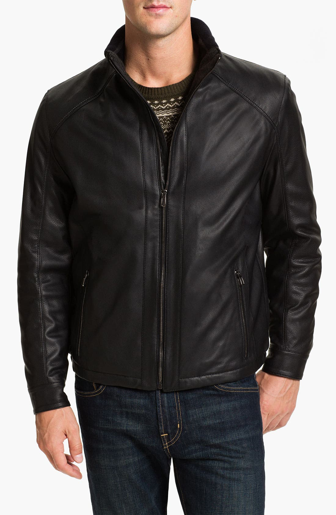 Alternate Image 1 Selected - Gian Franco Pagini Leather Jacket