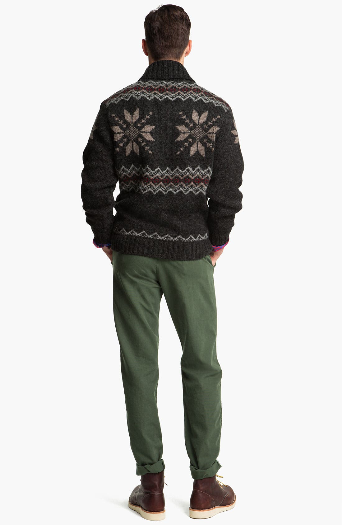 Alternate Image 5  - Pendleton Fair Isle Shawl Collar Shetland Wool Sweater