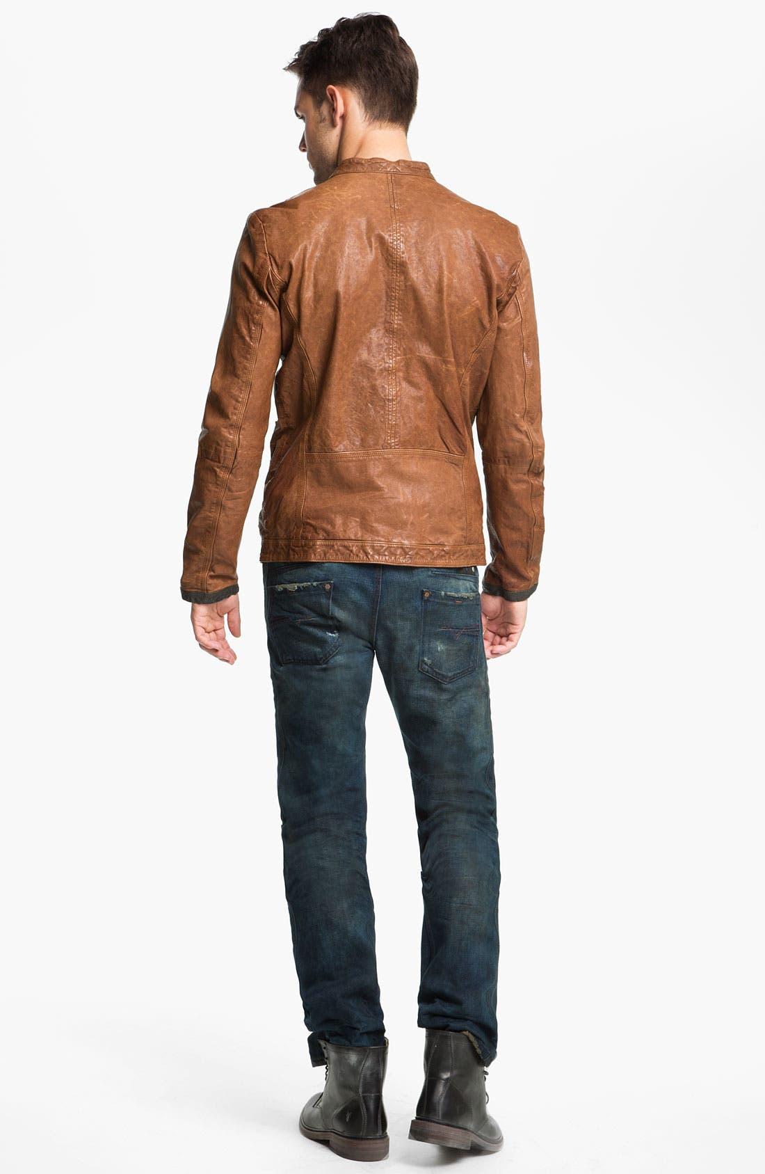 Alternate Image 2  - DIESEL® Jacket, T-Shirt & Slim Tapered Leg Jeans