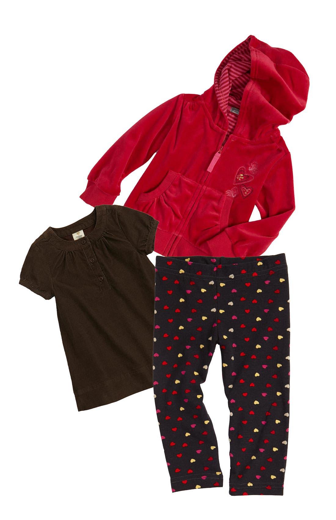 Main Image - Tucker + Tate Dress & Pumpkin Patch Sweater (Toddler)