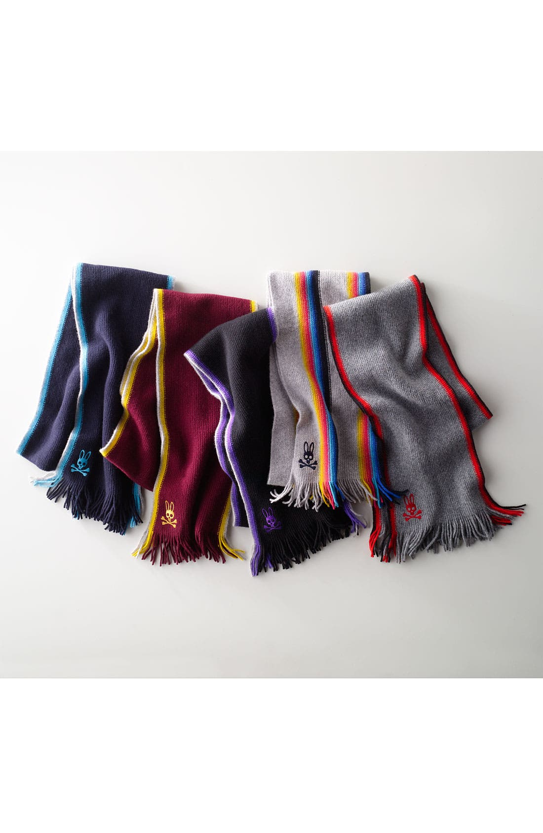 Alternate Image 3  - Psycho Bunny Multi Stripe Lambswool Scarf