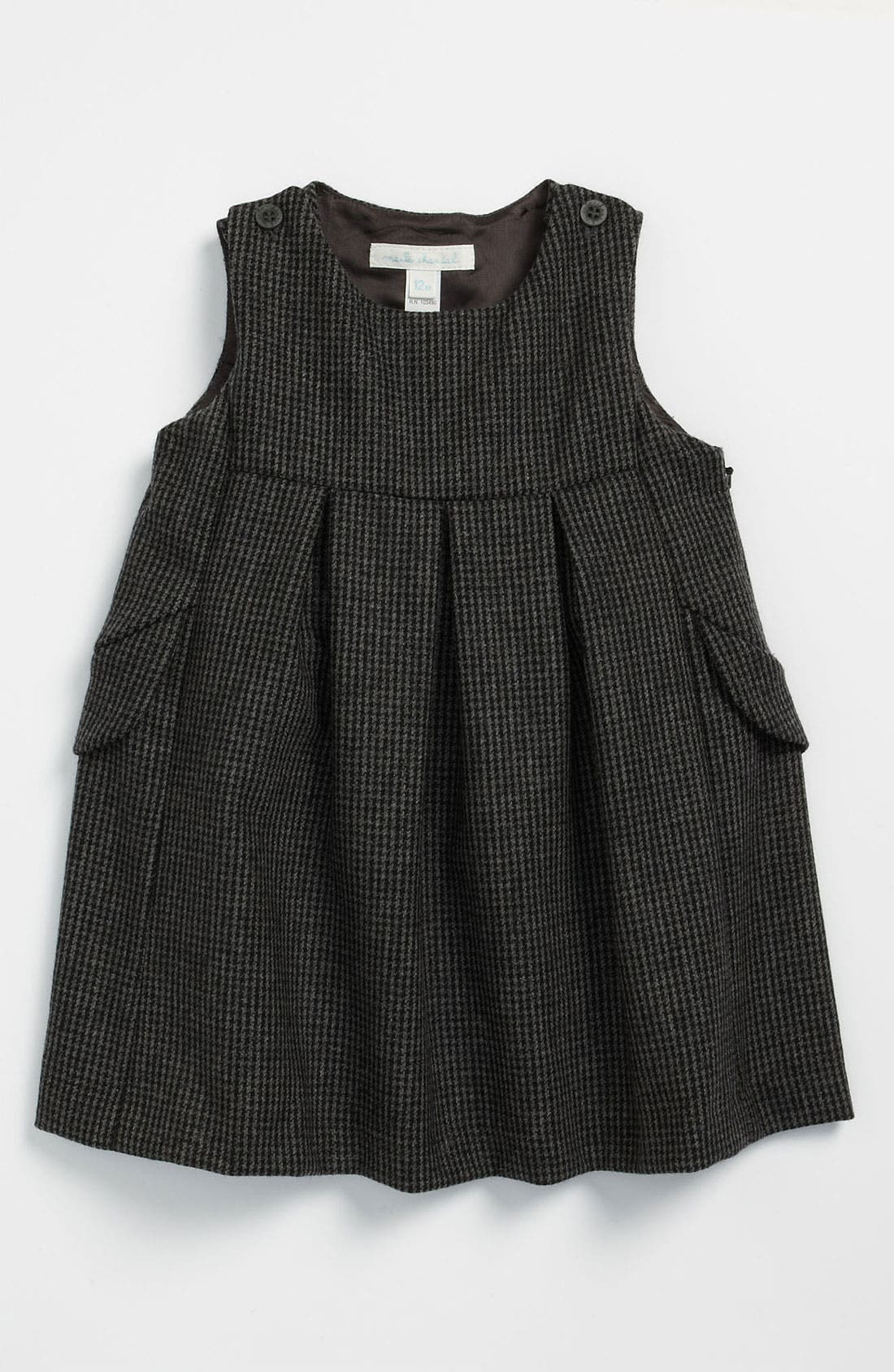 Main Image - Marie-Chantal Houndstooth Wool & Cotton Dress