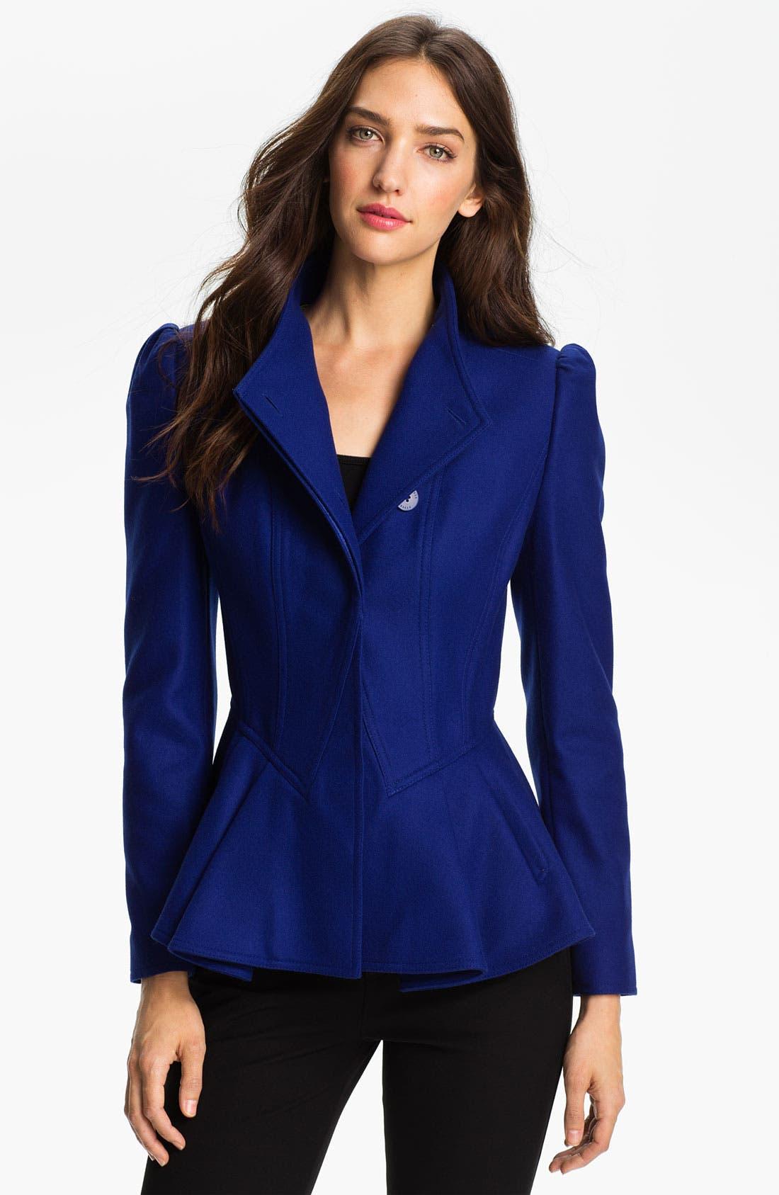 Alternate Image 1 Selected - Ted Baker London Peplum Wool Jacket