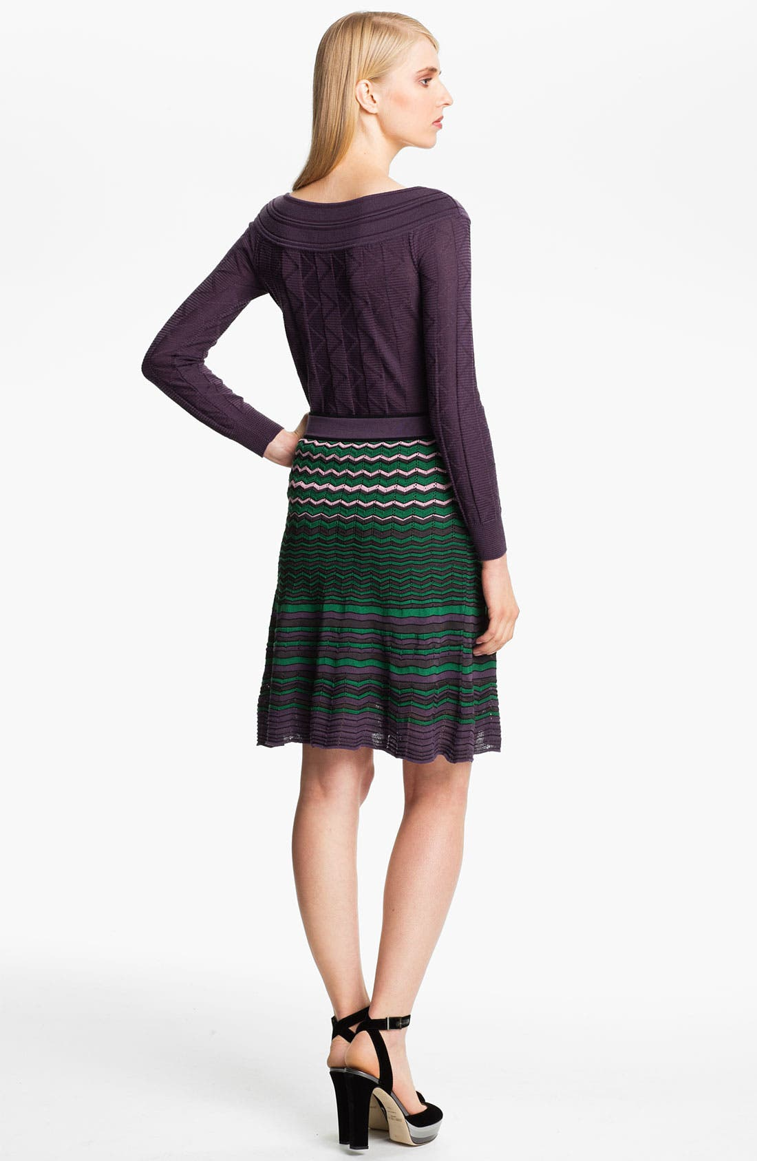 Alternate Image 2  - M Missoni Tonal Zigzag Boatneck Top