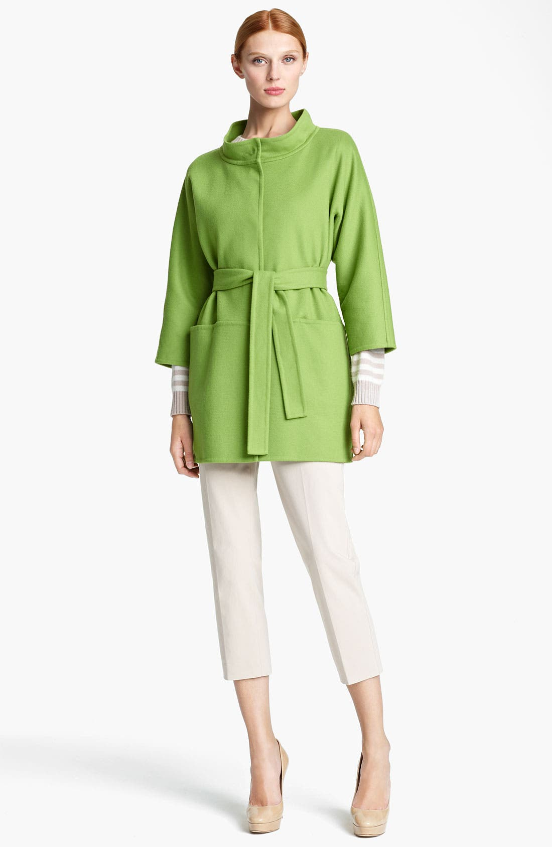 Alternate Image 1 Selected - Max Mara 'Lipari' Belted Wool Blend Coat