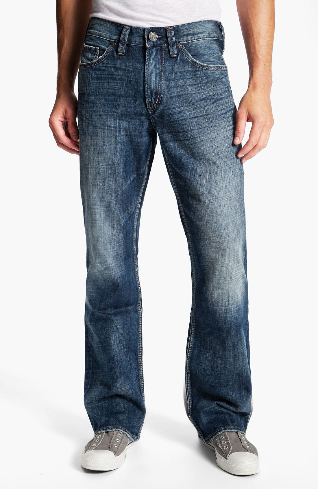 Alternate Image 2  - Silver Jeans Co. 'Grayson' Relaxed Bootcut Jeans (Indigo)
