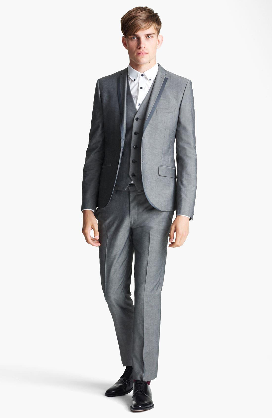 Alternate Image 4  - Topman 'Nottingham' Skinny Suit Jacket