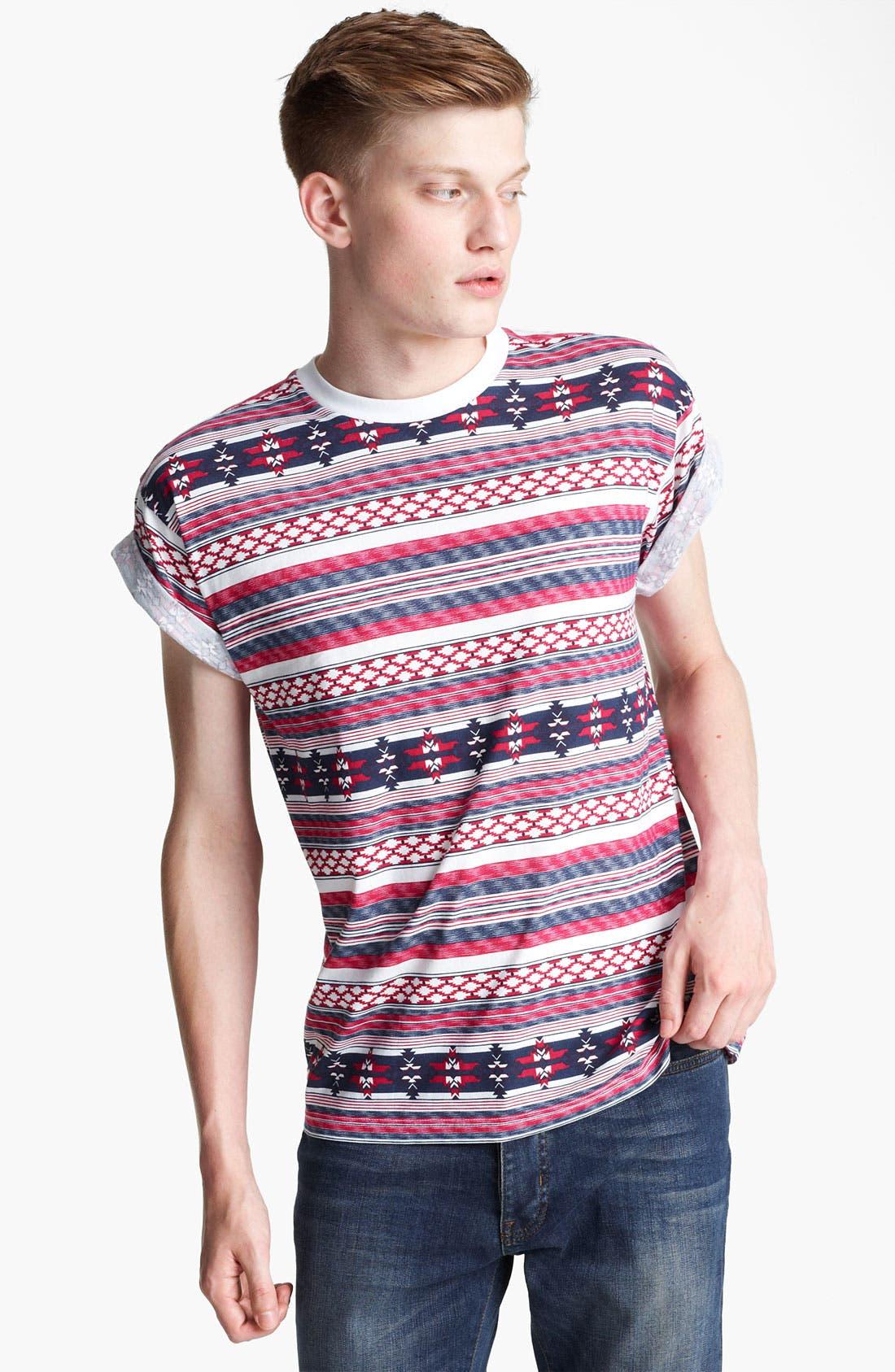 Alternate Image 1 Selected - Topman Pattern T-Shirt
