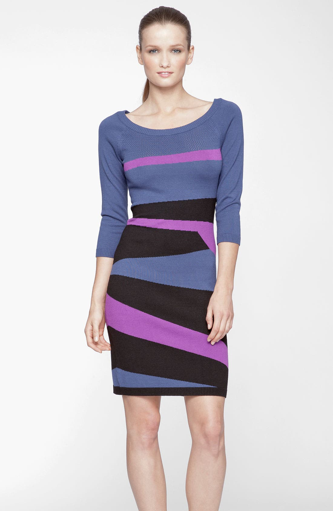Alternate Image 1 Selected - Marc New York by Andrew Marc Abstract Print Sweater Dress