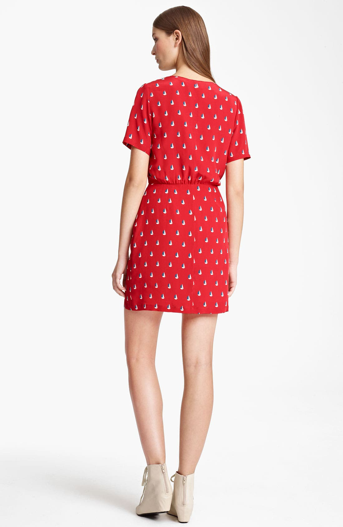 Alternate Image 2  - Band of Outsiders Sailboat Print Crêpe de Chine Dress