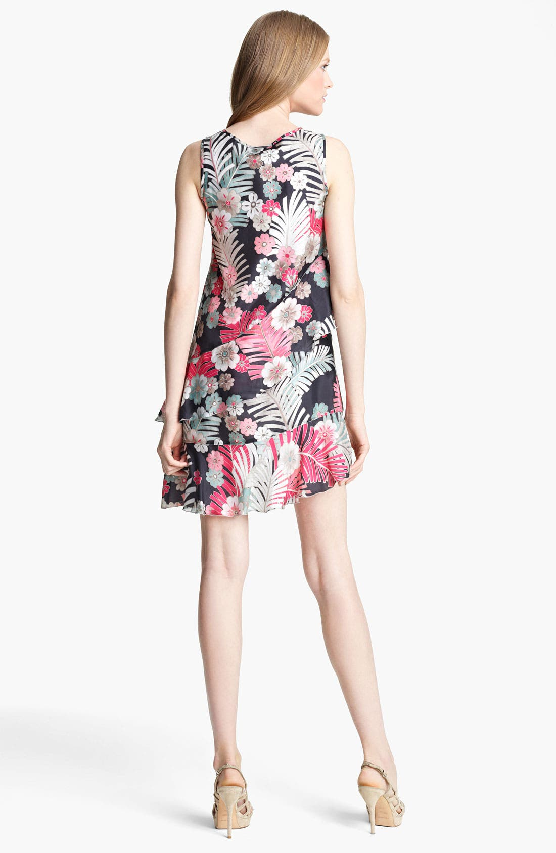 Alternate Image 2  - Armani Collezioni Botanical Print Silk Dress
